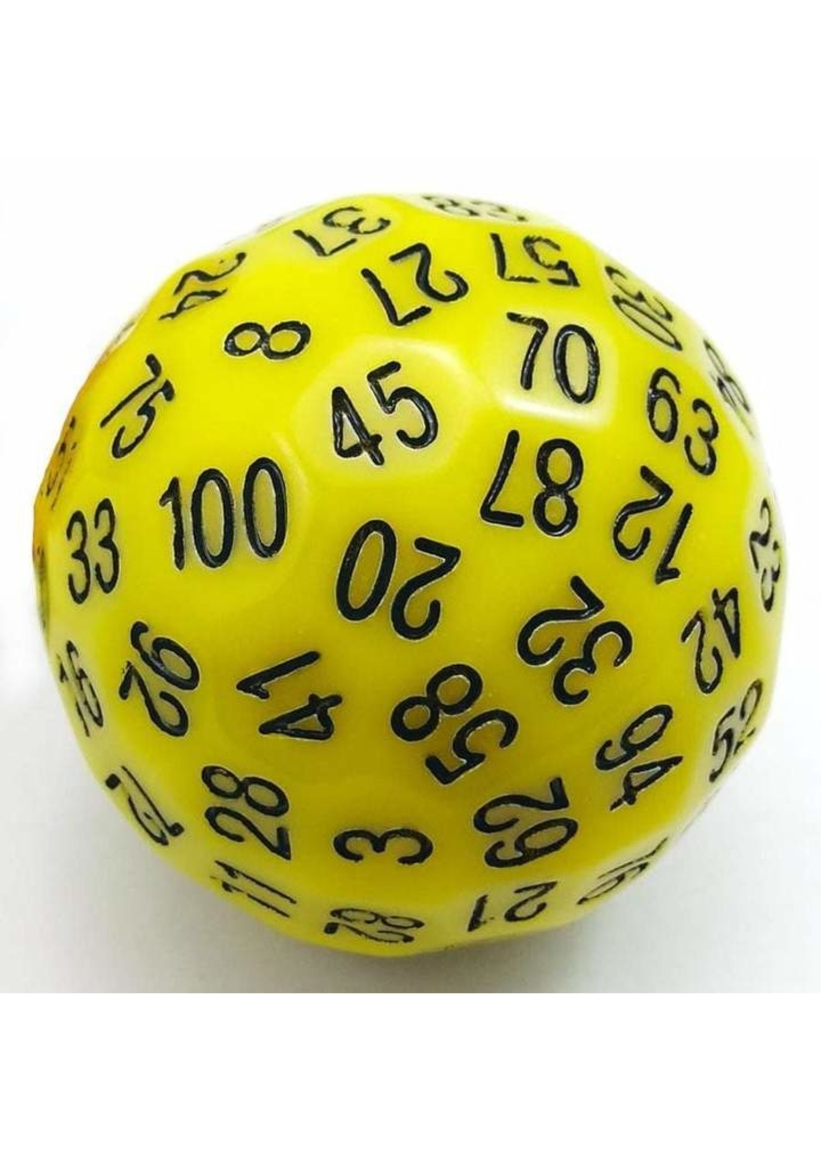100 Sided Die - Yellow D100