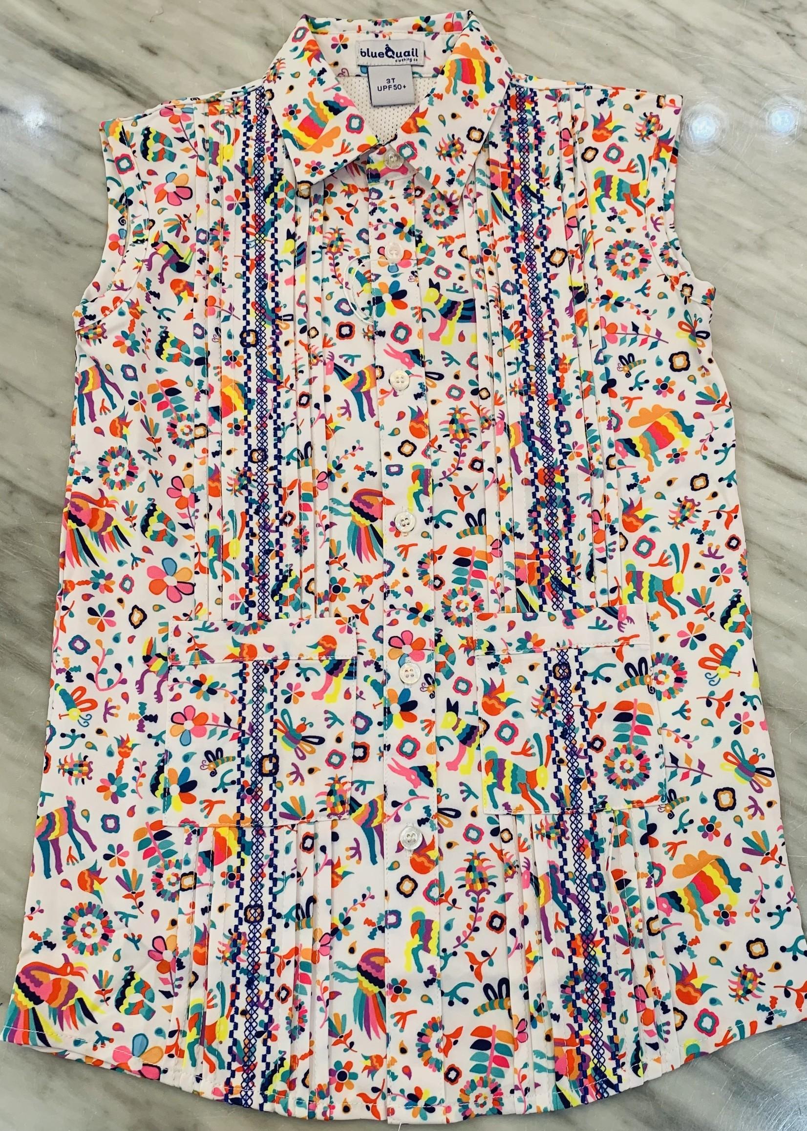 GUAYABERA DRESS - OTOMI/BL