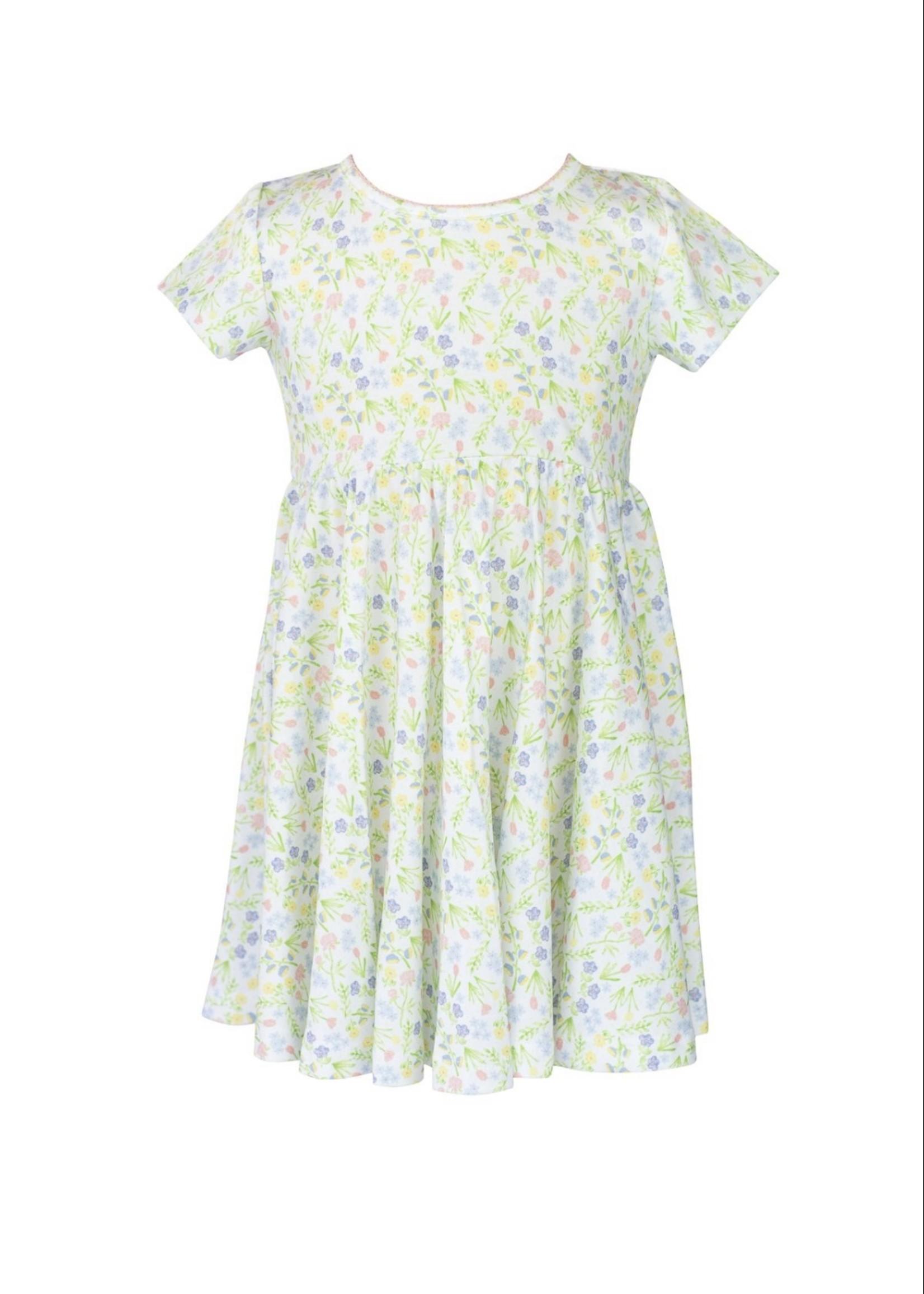 GARDEN FLORAL TWIRL DRESS