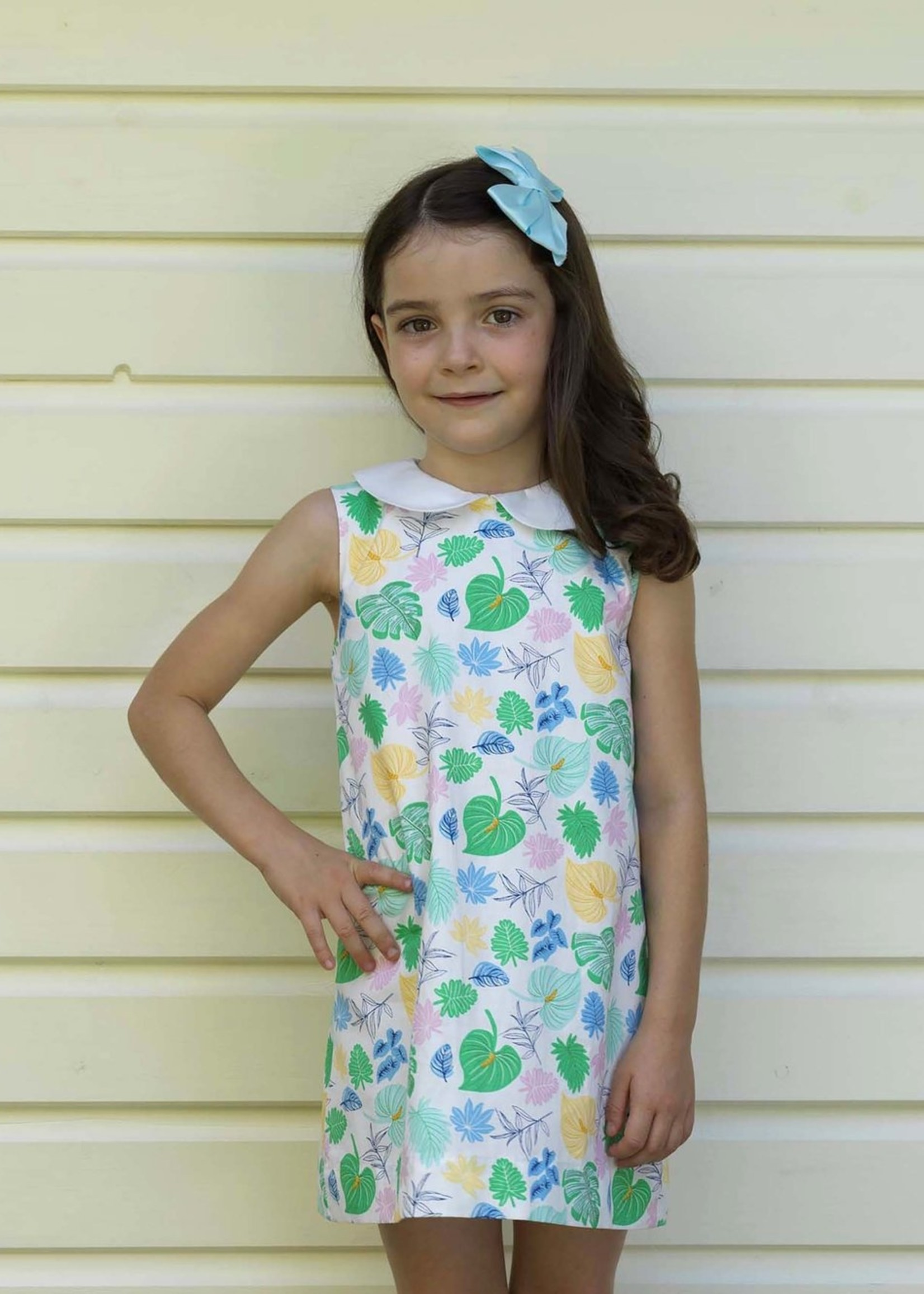 PALM LEAF 60'S SHIFT DRESS