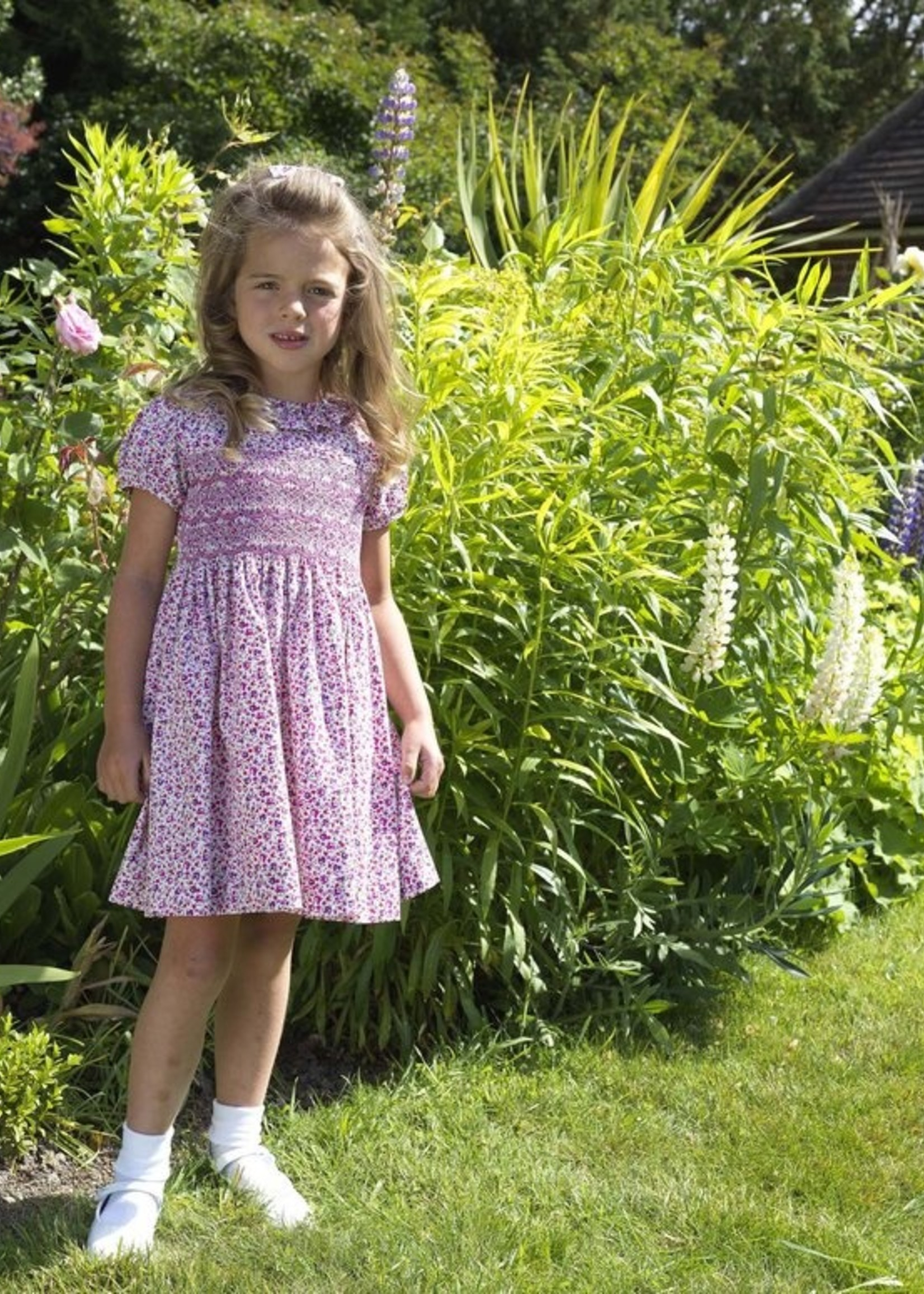 DITSY FLORAL SMOCKED FRILL DRESS