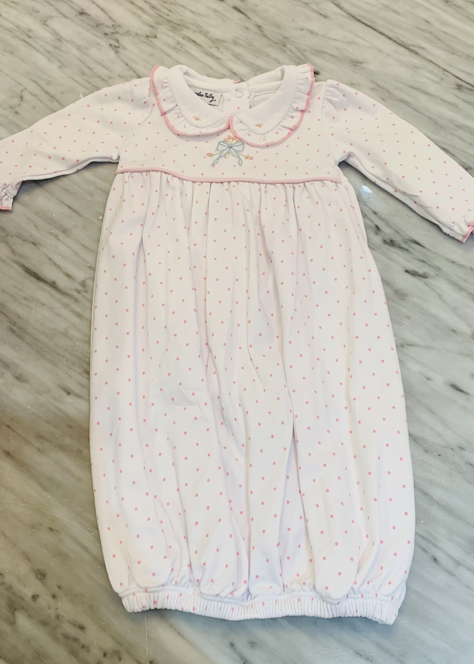 GOWN VINTAGE BOW COLLARED