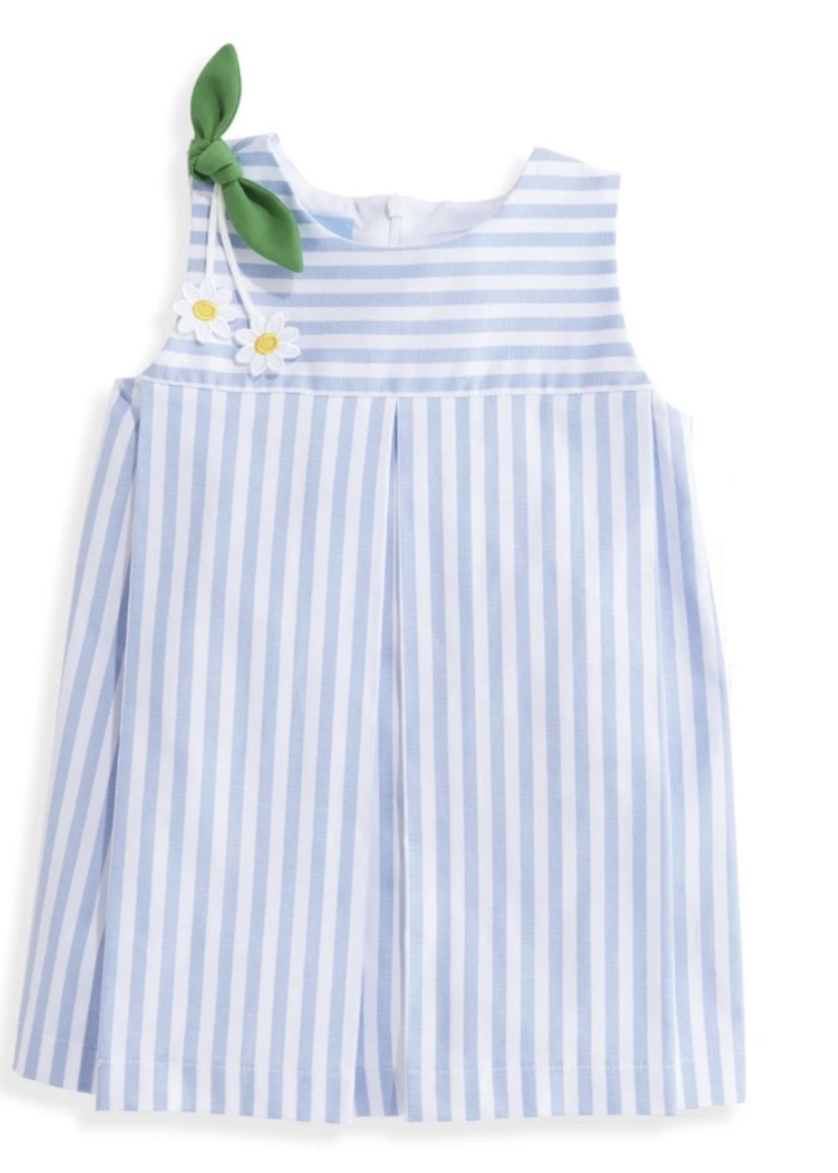 BLUE OXFORD STRIPE RACHEL DRESS