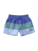 BLUE COLORBLOCK SWIM TRUNK
