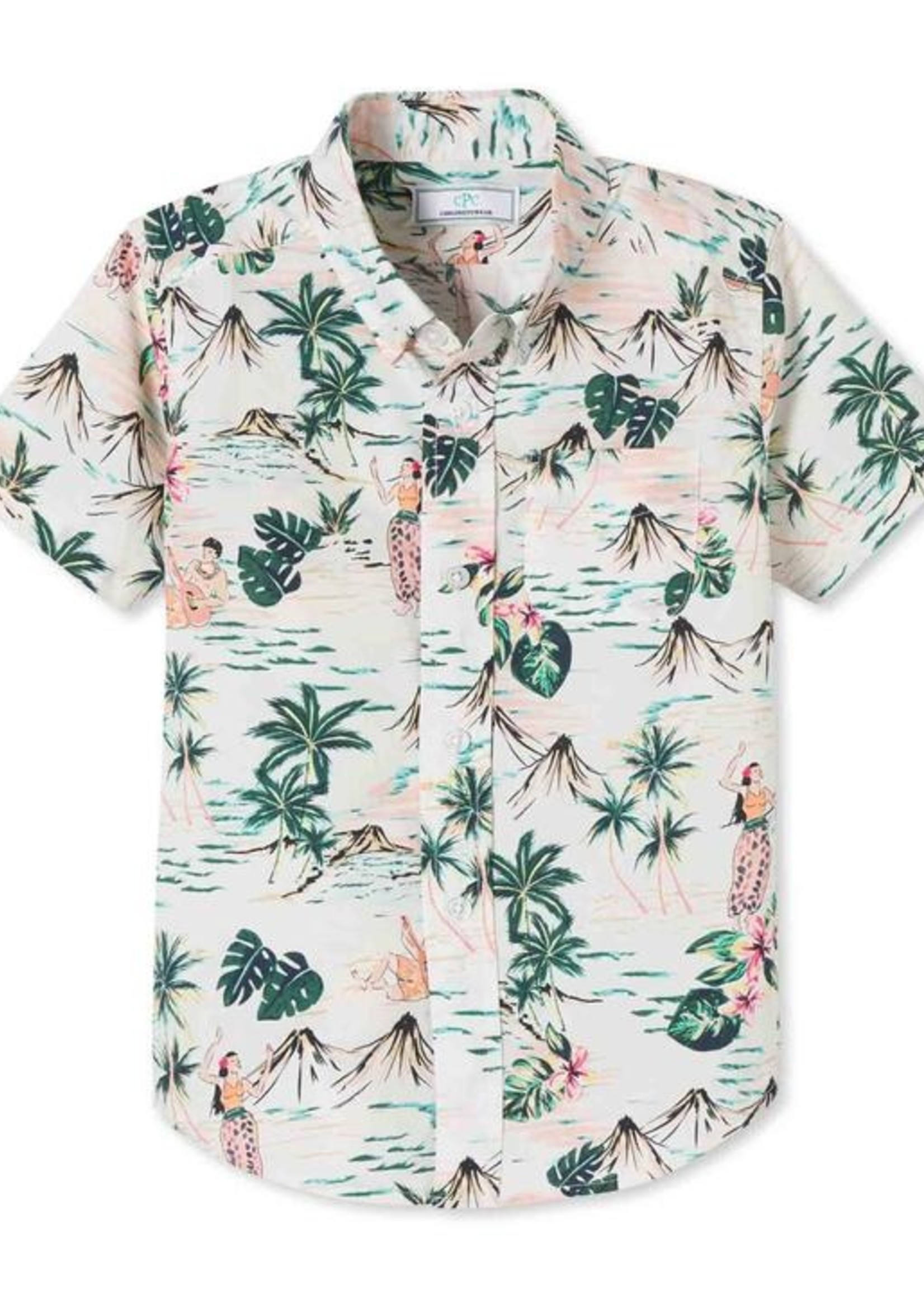 HULA PRINT OWEN BUTTON DOWN