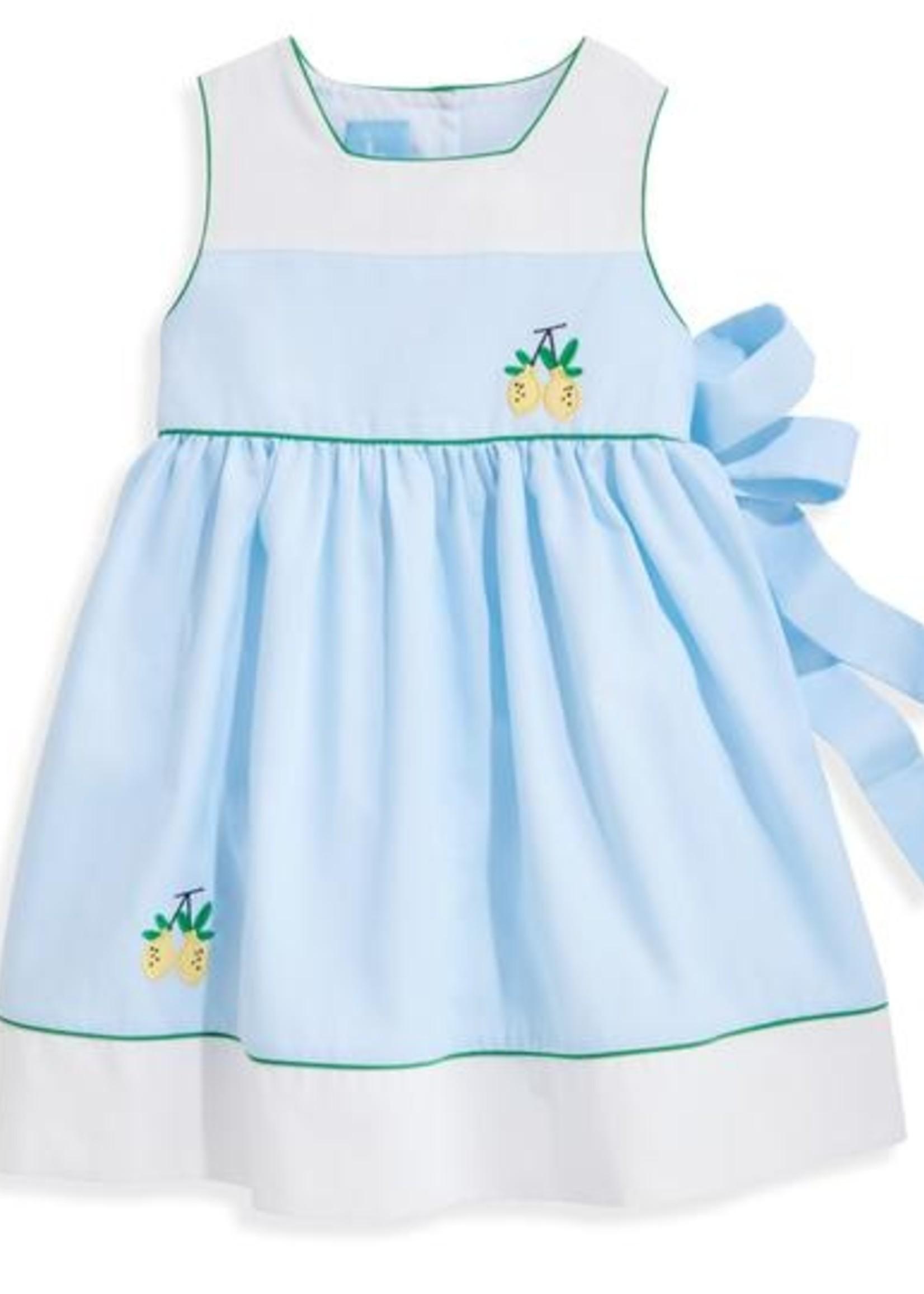 BLUE PIQUE OLIVIA DRESS