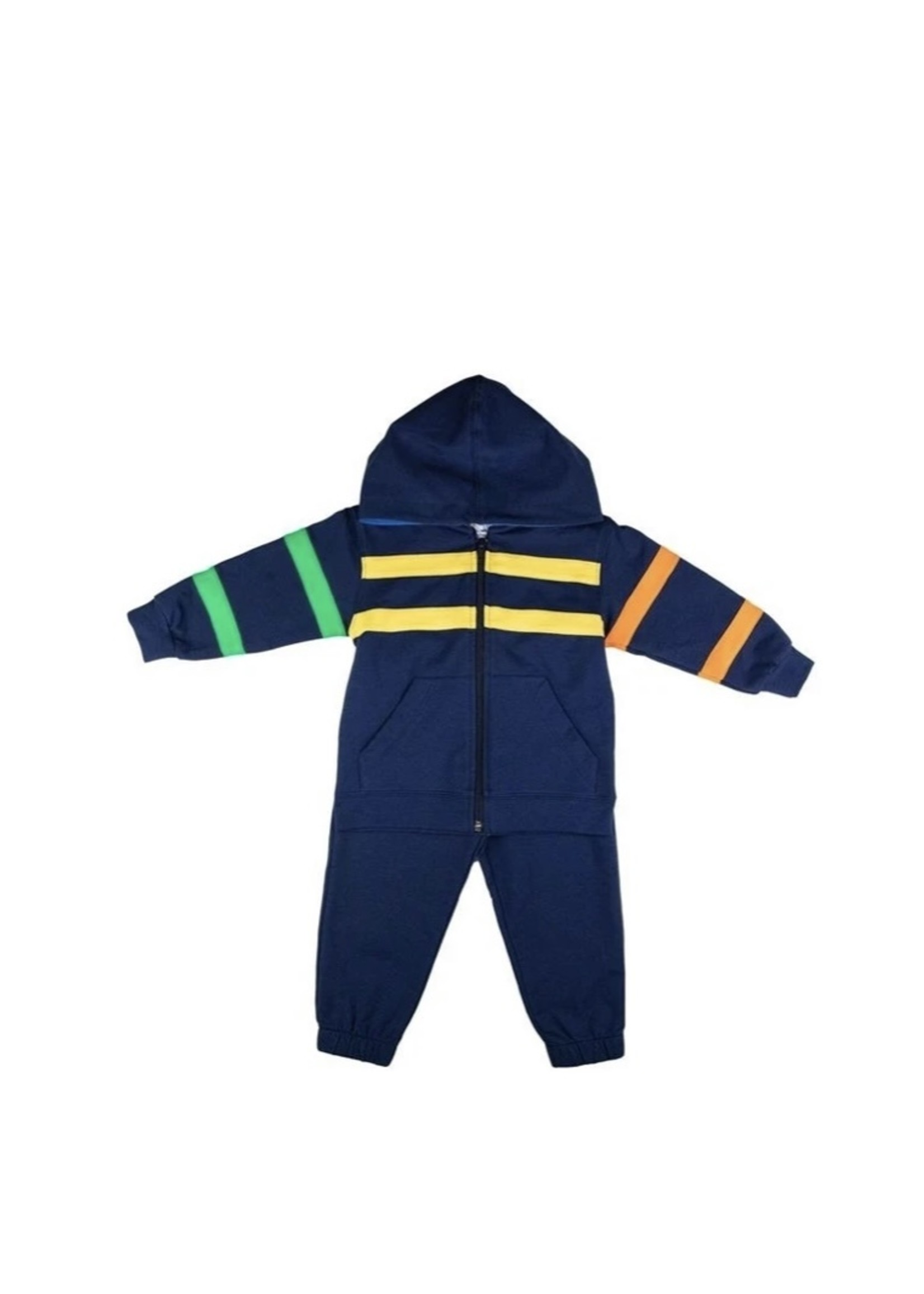Hoodie Set with Color Bands