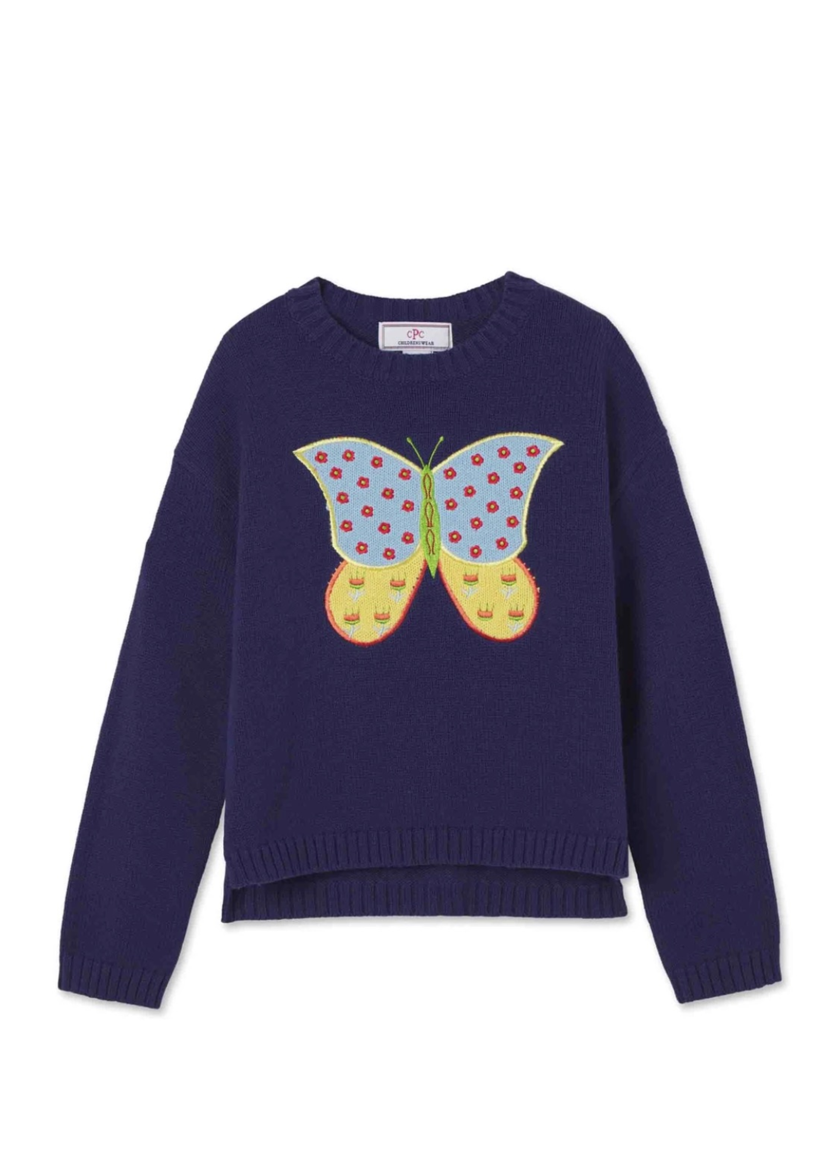 Lane Relaxed Sweater Folk Tails - Blue Ribbon