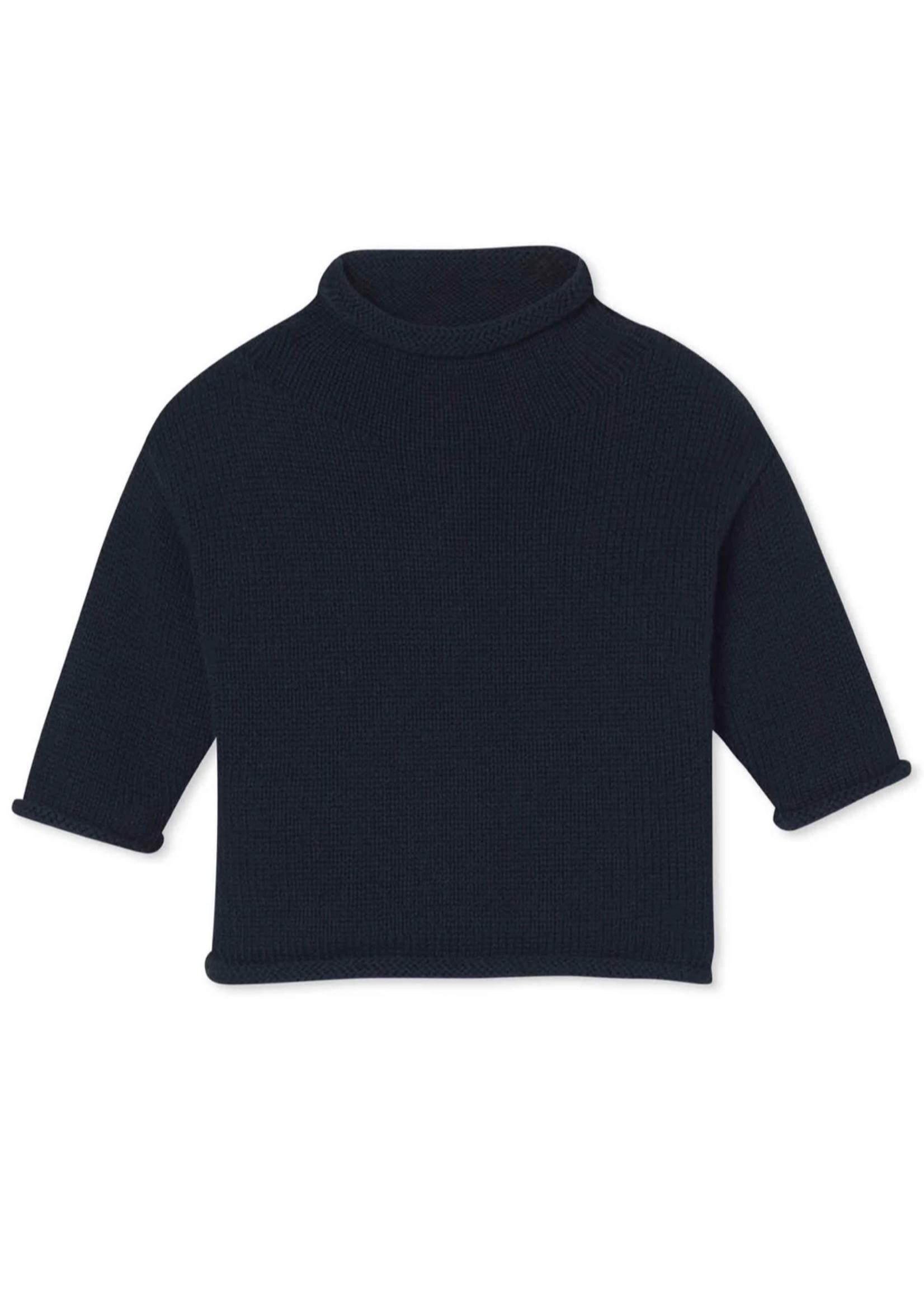 Fraser Roll Neck Sweater - Medieval Blue