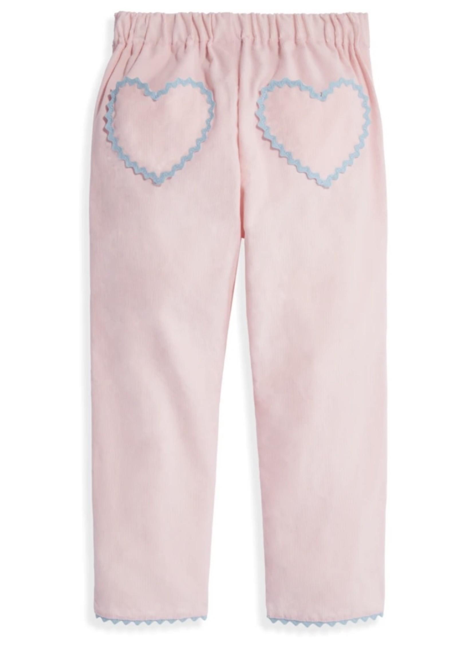 Heart Pocket Lulu Pant - Blush Cord
