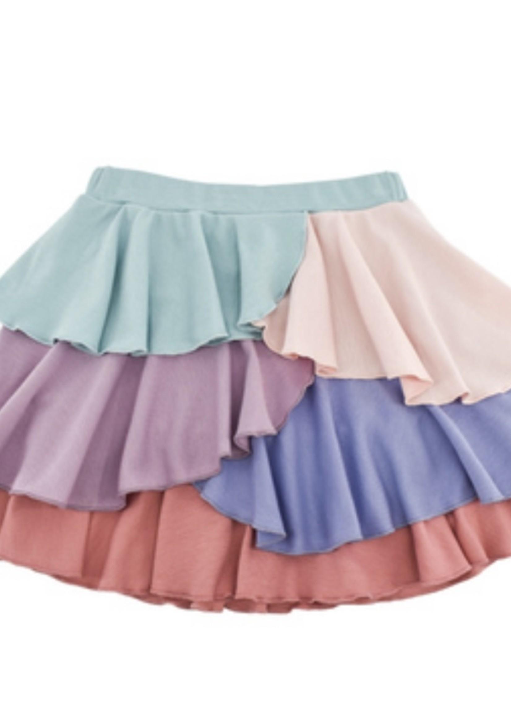 Ruffle Tiered Skirt - Multi