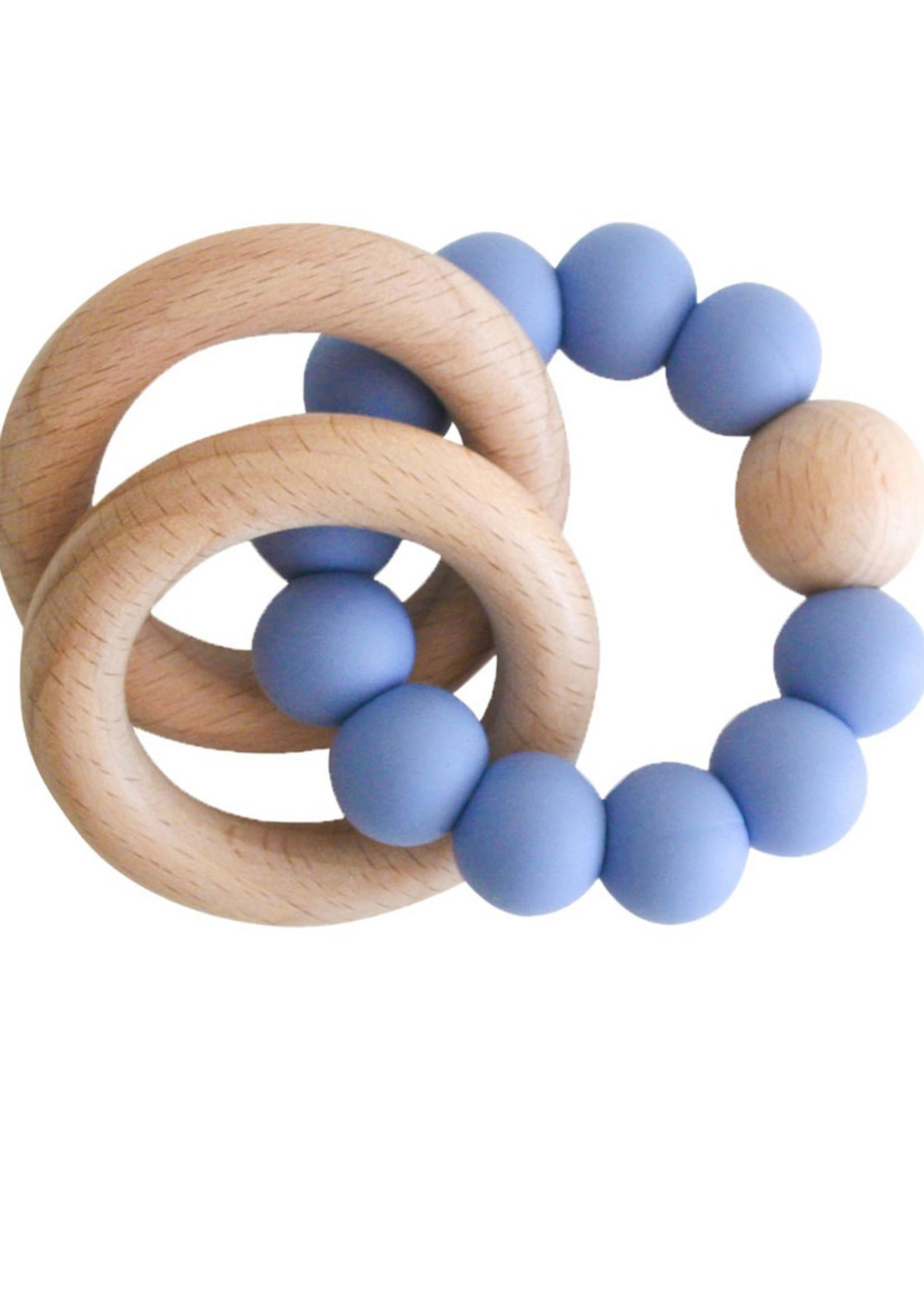 BLUE BEECHWOOD TEETHER RINGS