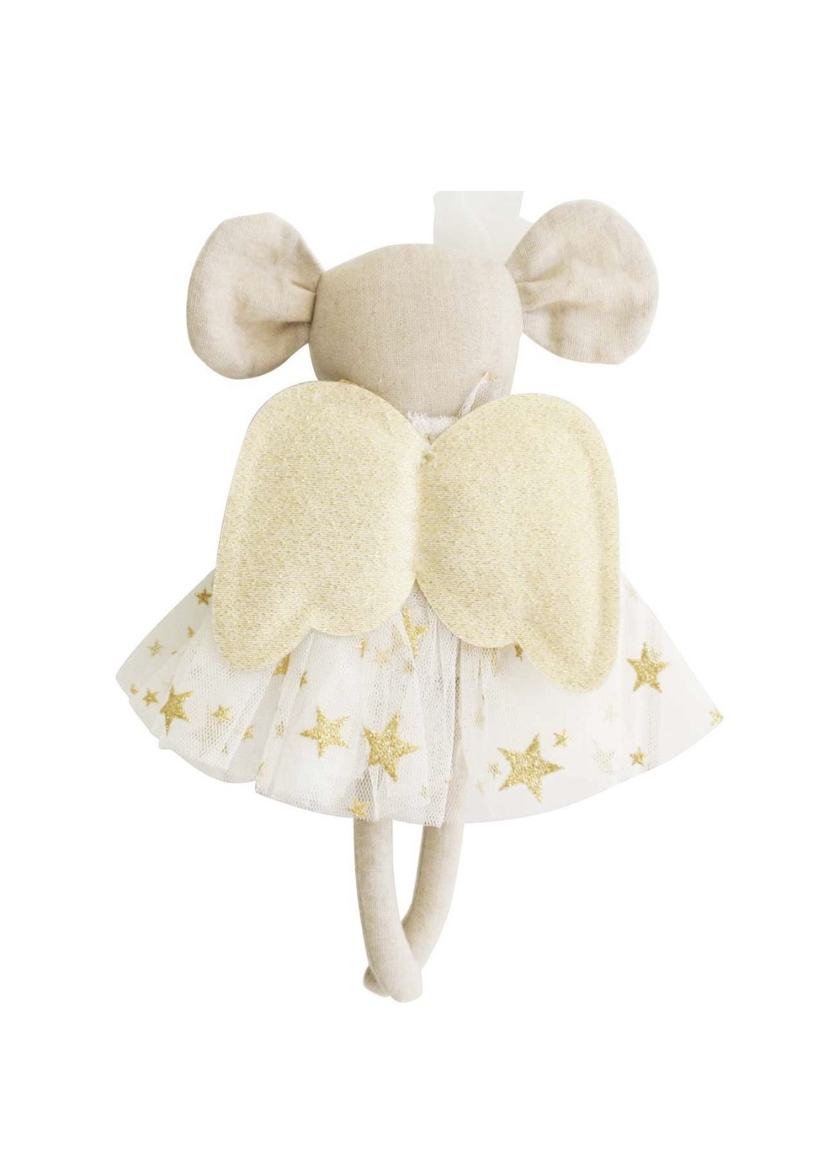 MINI ANGEL MOUSE IVORY GOLD STAR