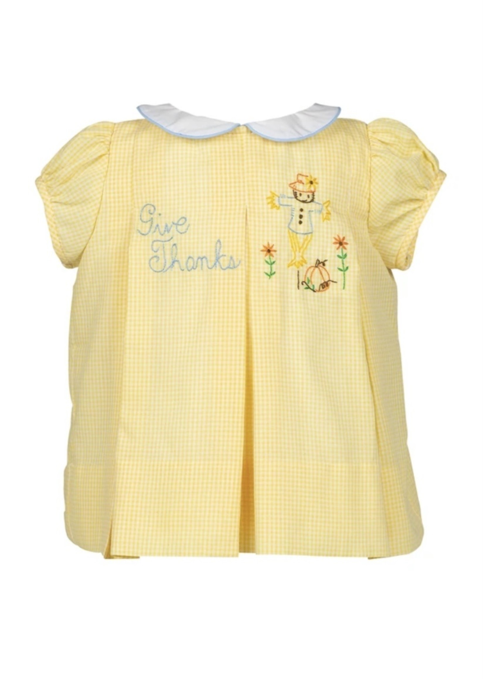 Give Thanks Dress - Yellow Gingham