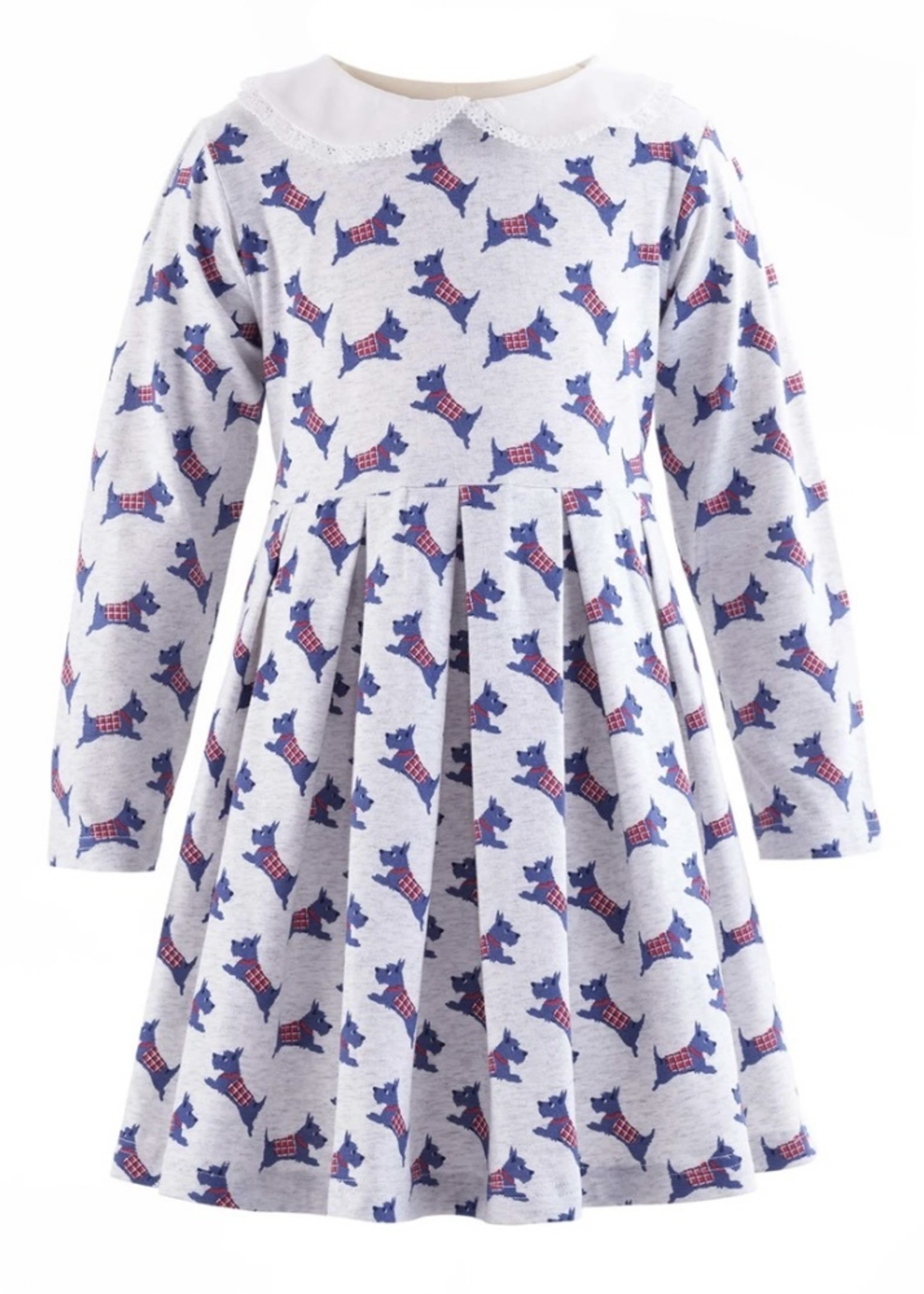 Scottie Dog Flannel Dress