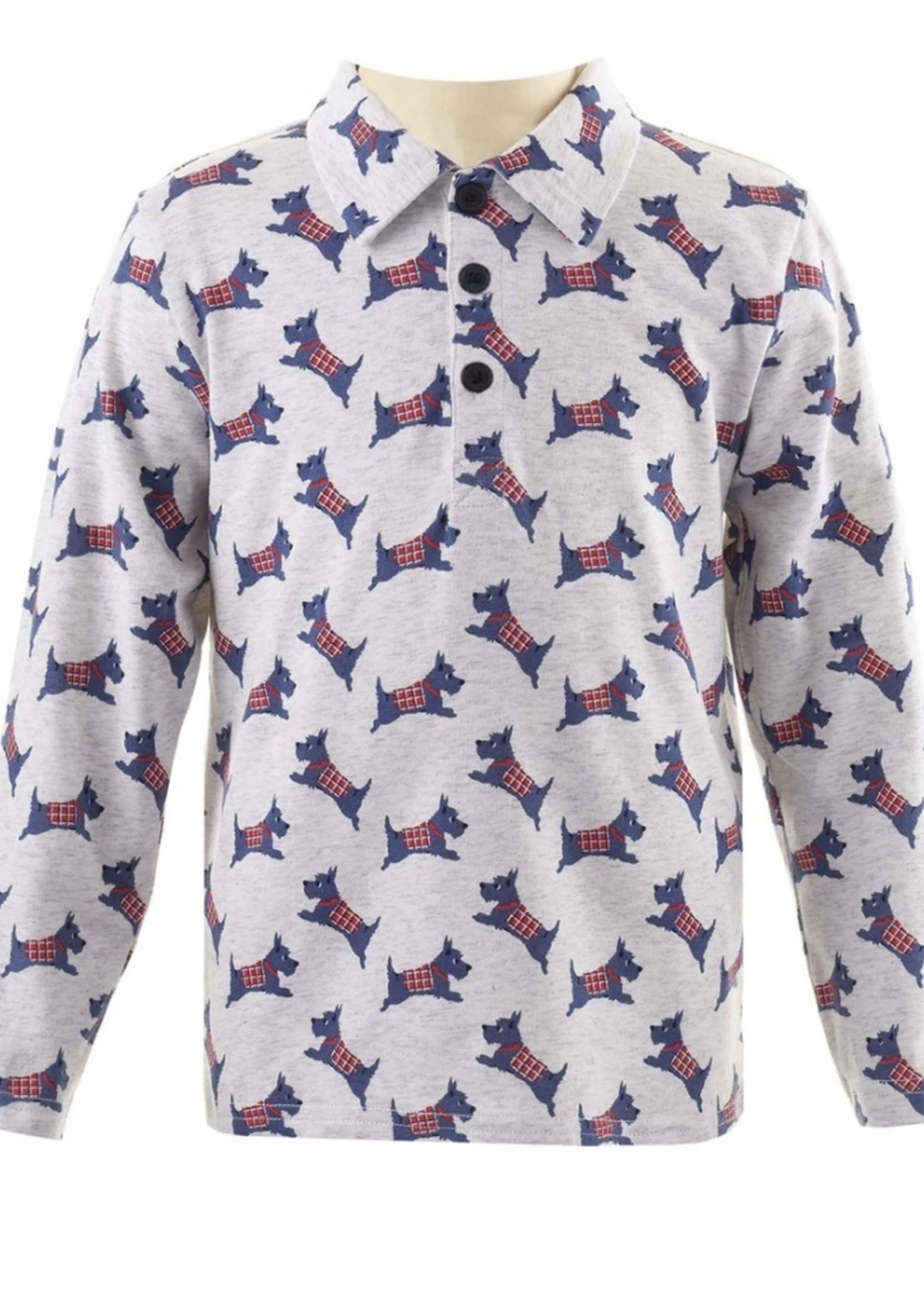 Scottie Dog Polo Shirt Grey