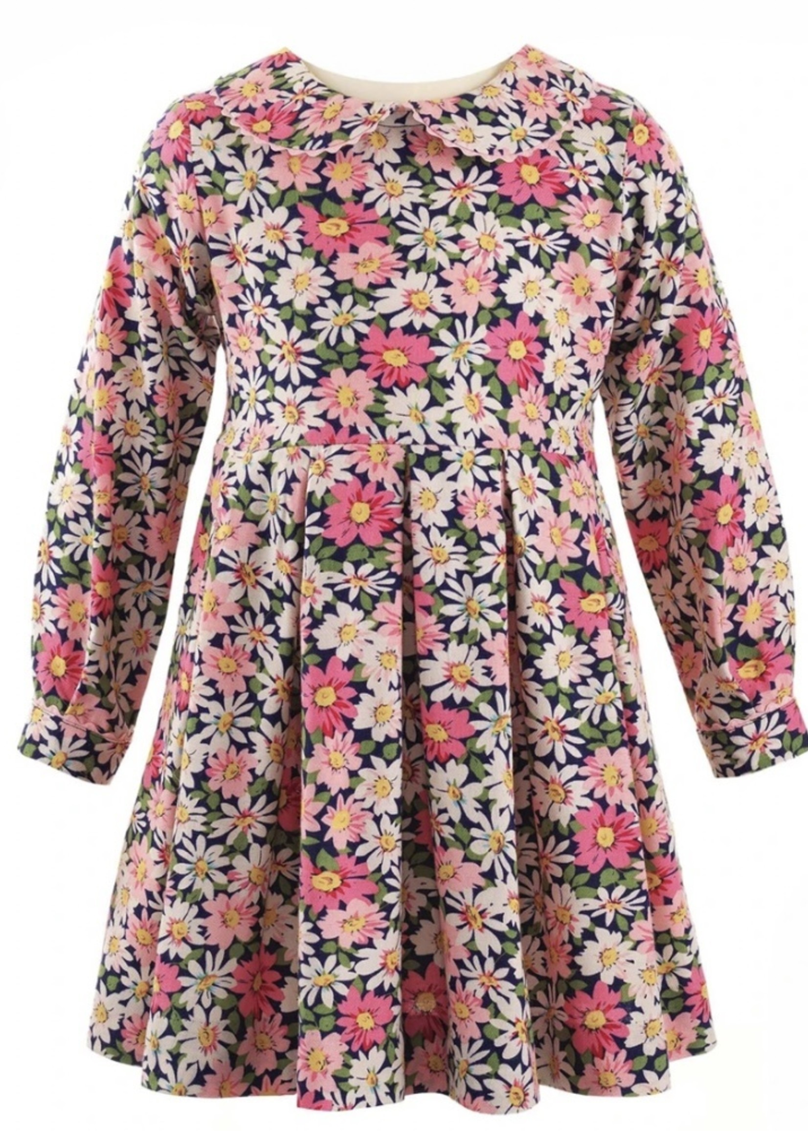 Floral Flannel Dress & Bloomers Multi-color