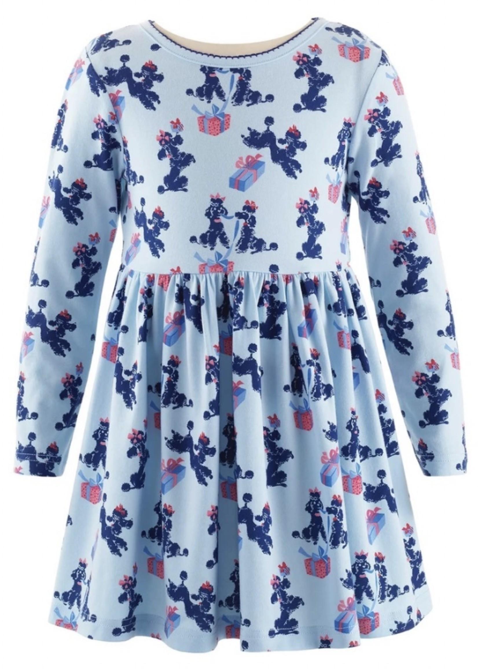 Poodle Jersey Dress Blue
