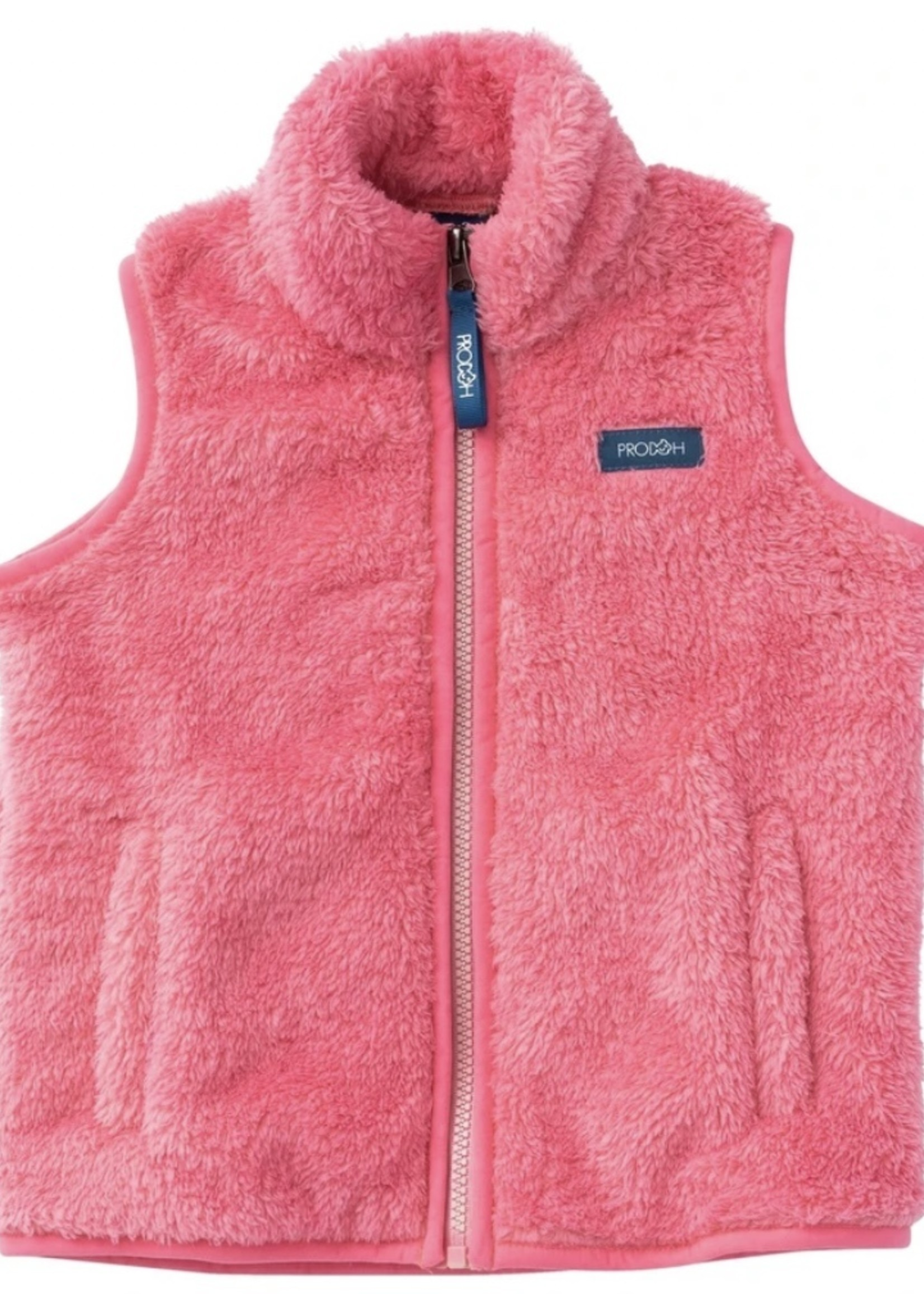 Girl's Solid Sherpa Vest - Morning Glory