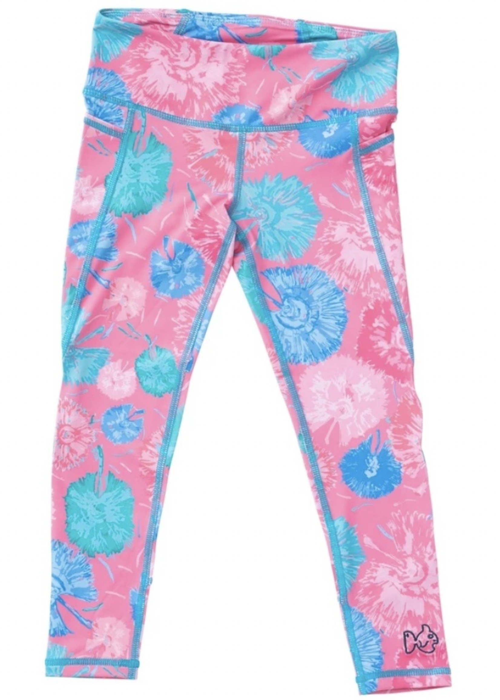 Girl's Athletic Legging - (pink print)