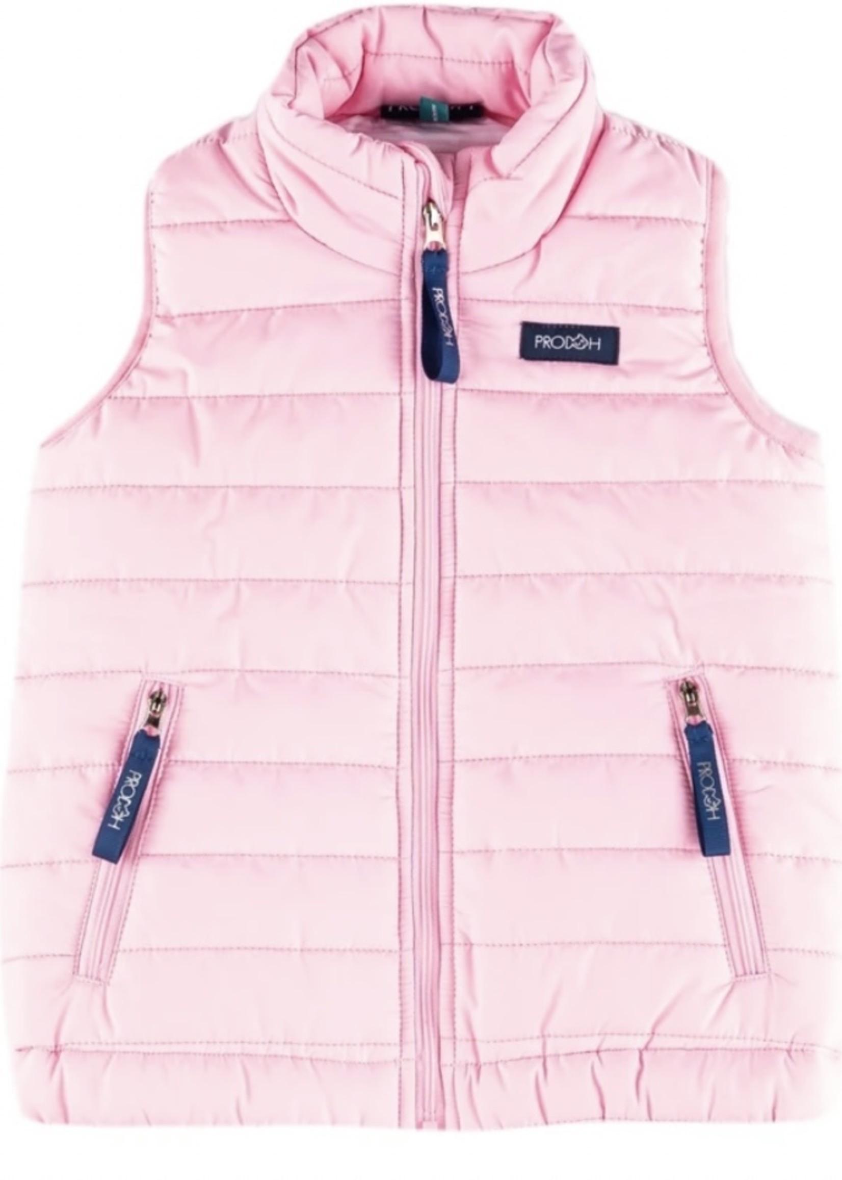 Girl's Puffer Vest - Ballet Pink