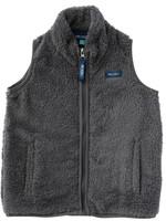 Solid Sherpa Vest - Poppy Seed (gray)