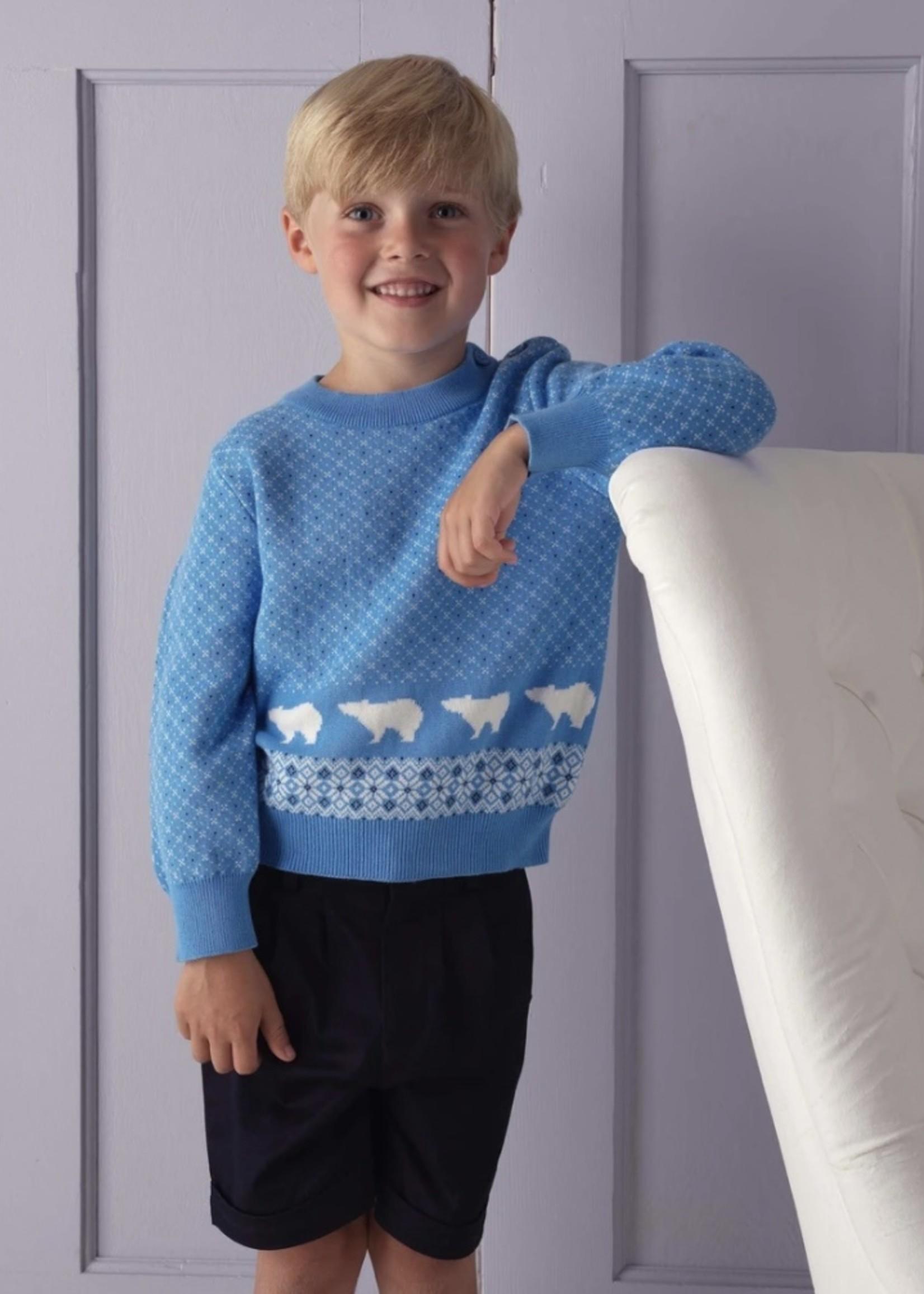 Polar Bear Sweater Blue