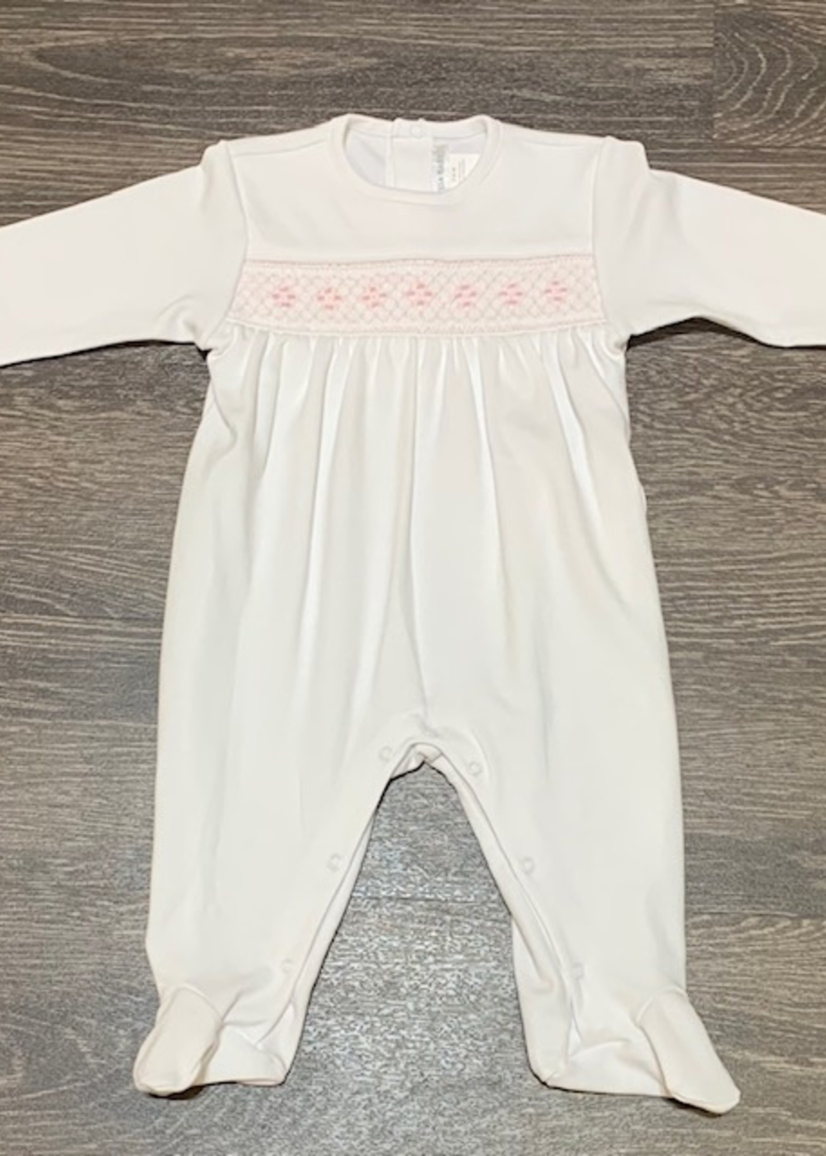 WHITE WITH PINK ELEGANT COLLECTION FOOTIE