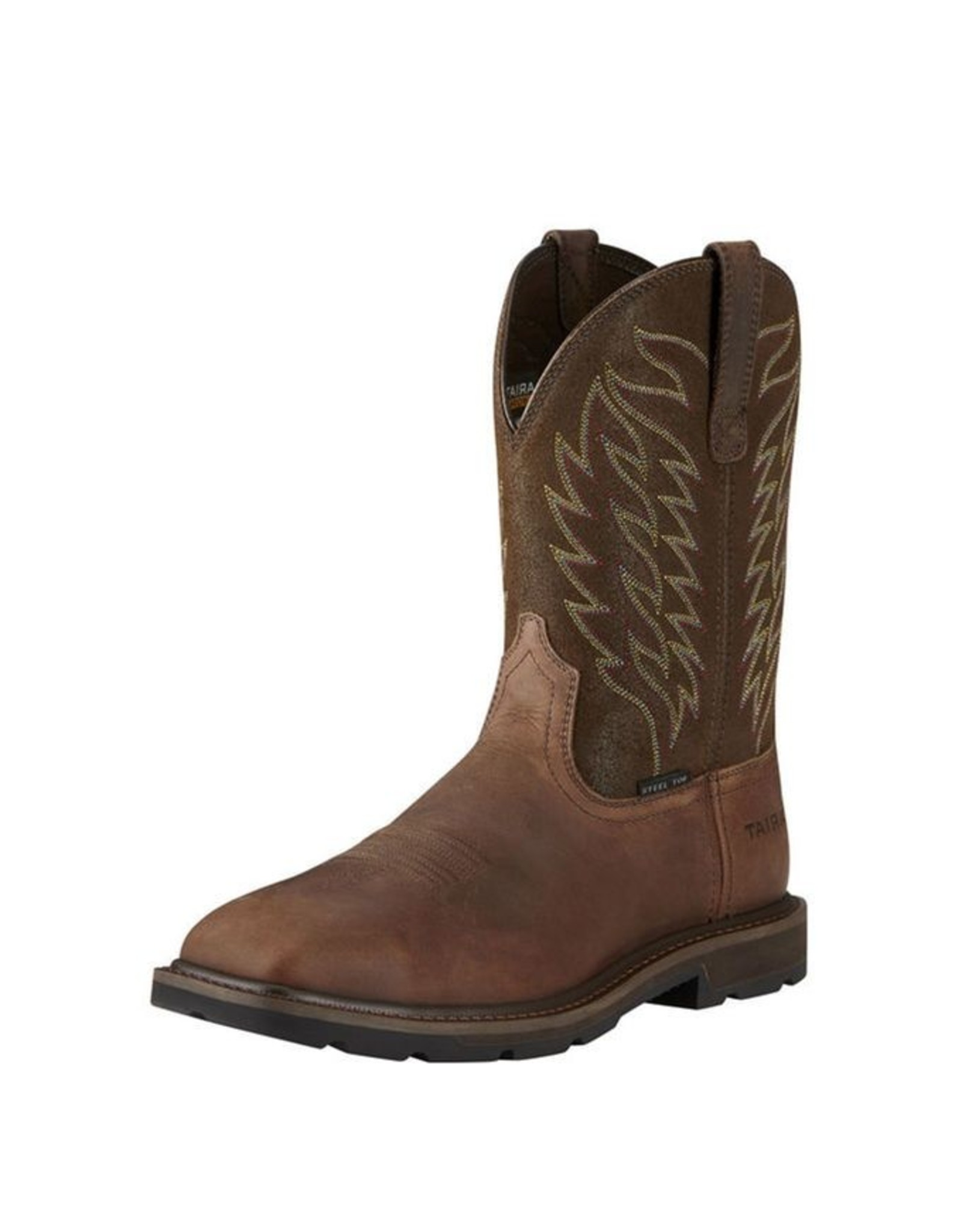 Boots-Men Ariat 10021108 Groundbreaker Wide Square Steel Toe