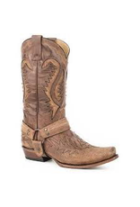 Boots-Men Stetson 12-020-6204-1641 Buford Brown Outlaw Harness