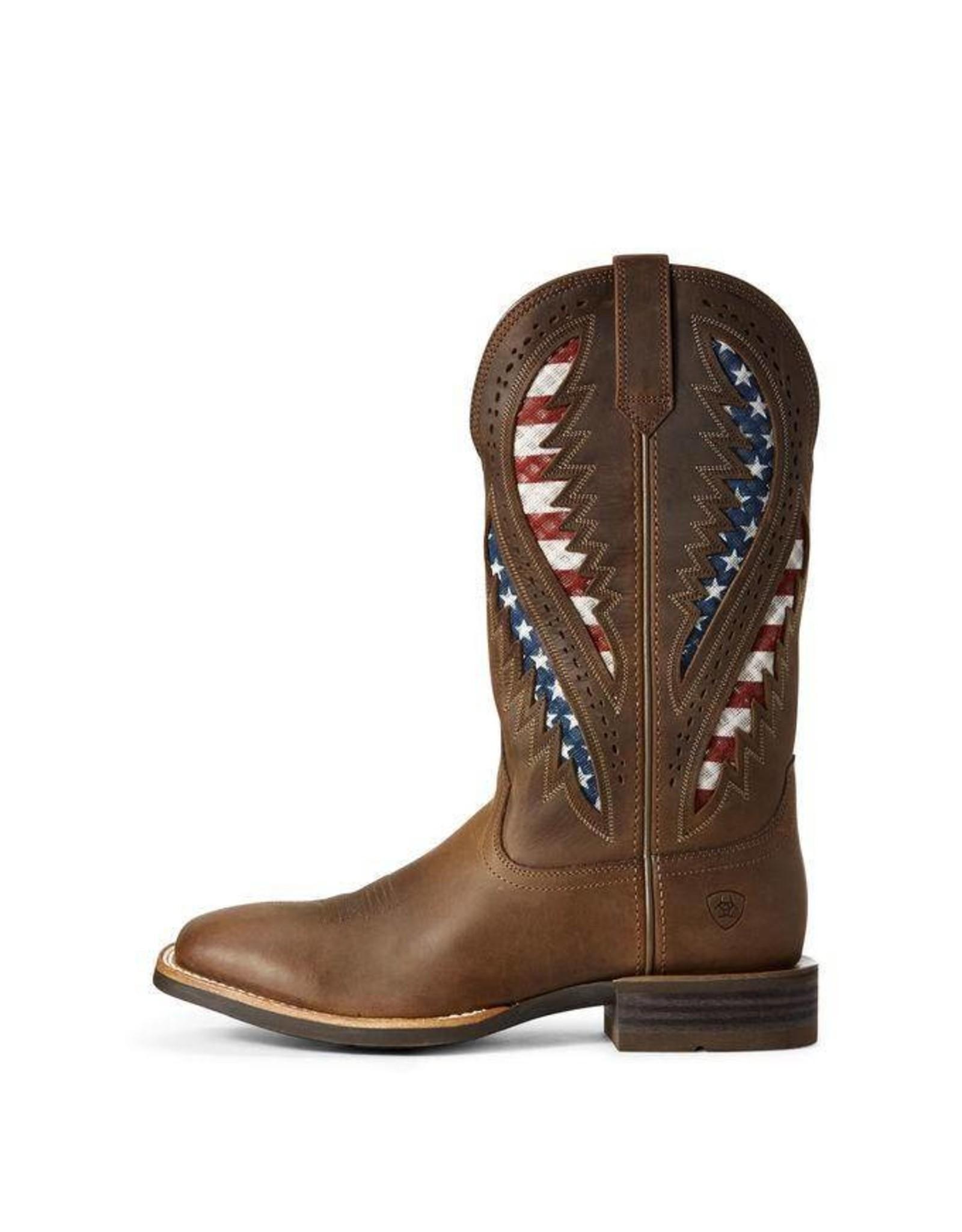 Boots-Men Ariat 10027165 Quickdraw VentTEK Brown