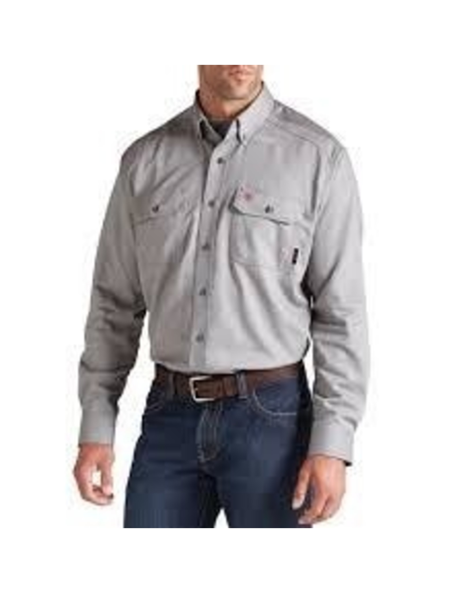 Tops-Men Ariat 10019063 FR Flame Resistant Silver Vent