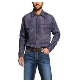 Tops-Men Ariat 10025423 FR Flame Resistant Plainview Snap