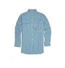 Tops-Men RASCO FR0824BL Flame Resistant WorkwearDress & Plaid Shirts
