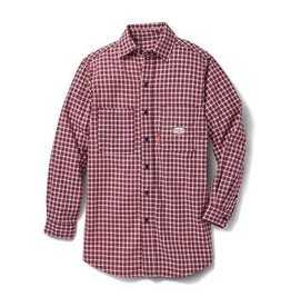 Tops-Men RASCO FR0824RD Flame Resistant WorkwearDress & Plaid Shirts