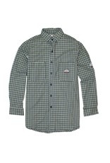 Tops-Men RASCO FR0824GN Flame Resistant WorkwearDress & Plaid Shirts