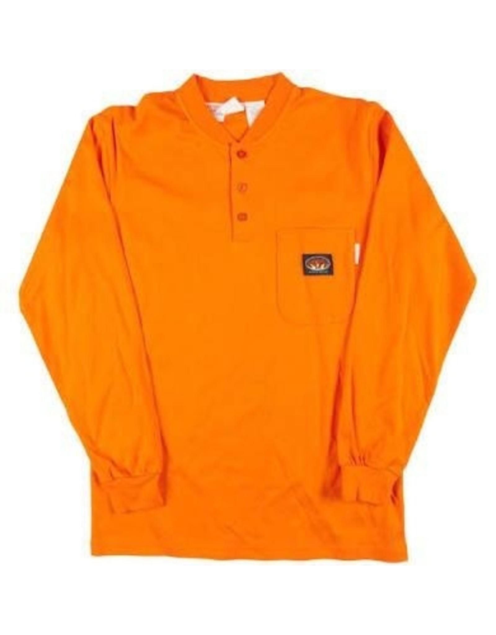 Tops-Men RASCO FR0101OR Henley T-Shirt