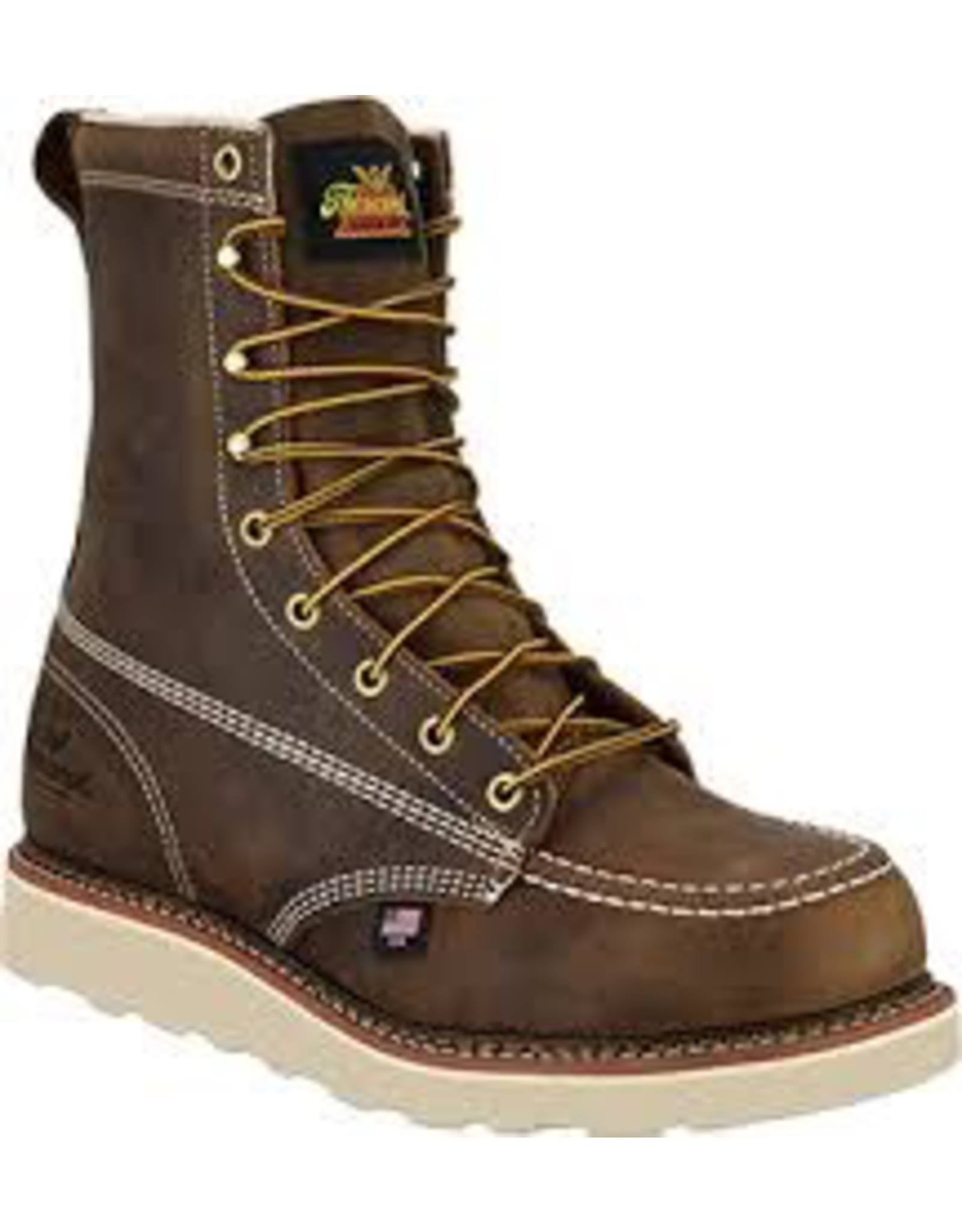 Boots-Men Thorogood 804-4478 8in Safety Moc Toe