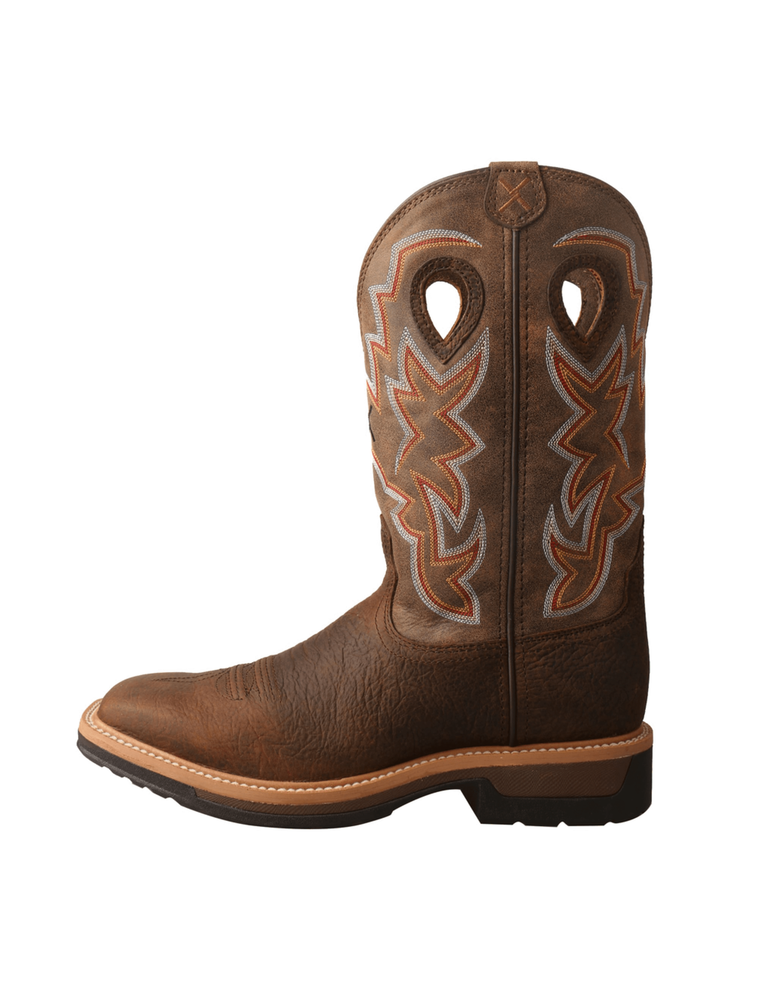 Boots-Men Twisted X MLCW022 Cowboy Work WS Toe Taupe