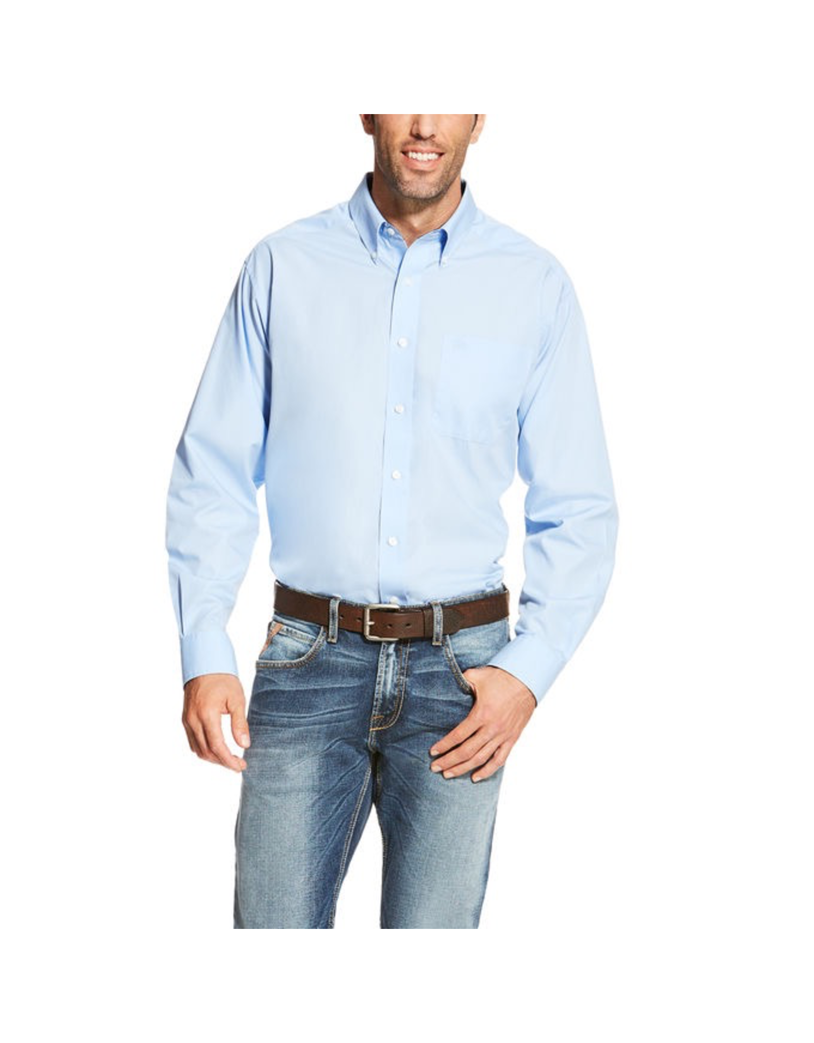 Tops-Men Ariat 10020329  Wrinkle Free Solid Shirt