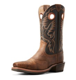 Boots-Men Ariat 10029759 Heritage Roughstock Sorrel Crunch