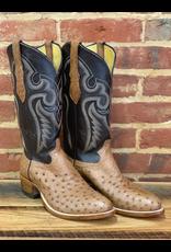 Boots-Men Hewlett & Dunn 74.W Full Quill Ostritch