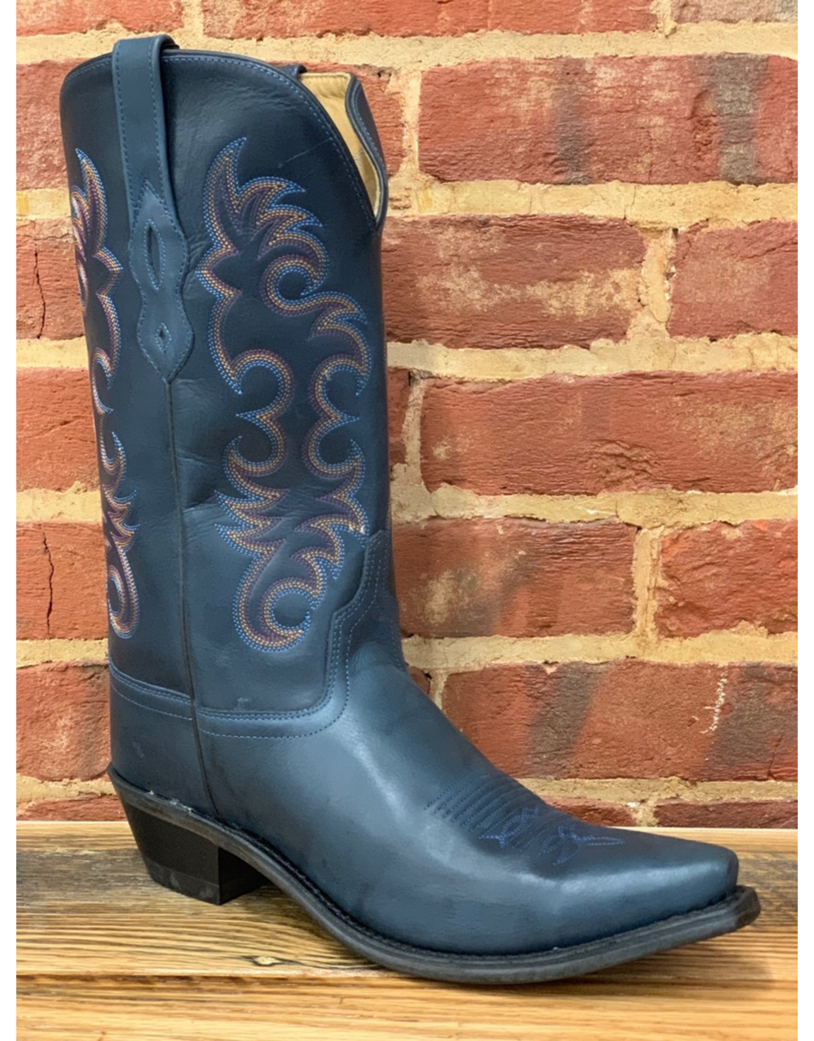 Boots-Women OLD WEST LF1513 Navy Blue Calf