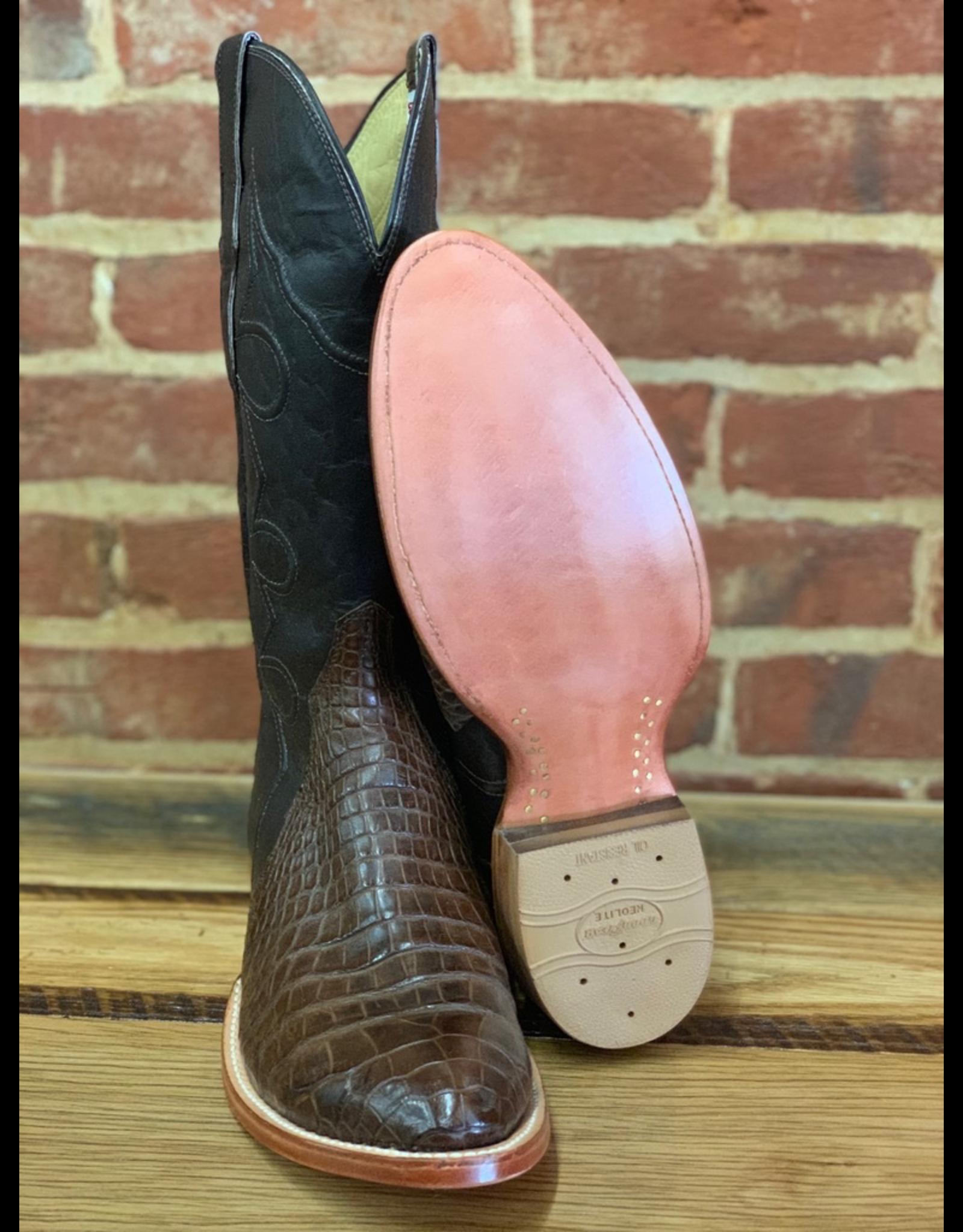 Boots-Men Hewlett & Dunn W8708 American Alligator Belly