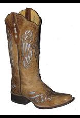 Boots-Women COWTOWN F402 Silver Winged Cross