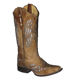 Boots-Women COWTOWN F402 Silver Winged Cross