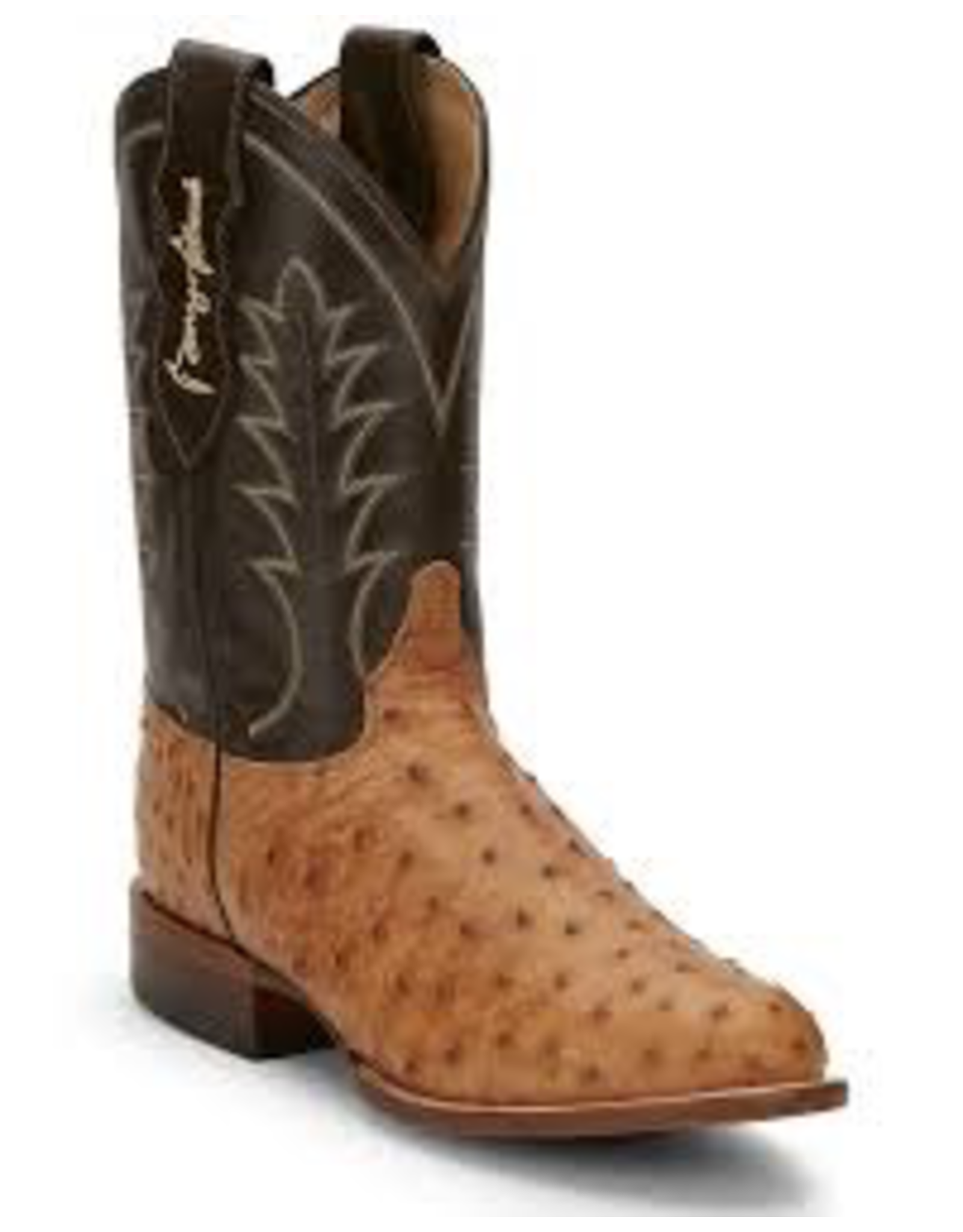 Boots-Men JUSTIN Full Quill Ostritch GS5701