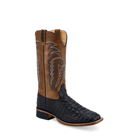Boots-Men OLD WEST Black Caiman Print BSM1885