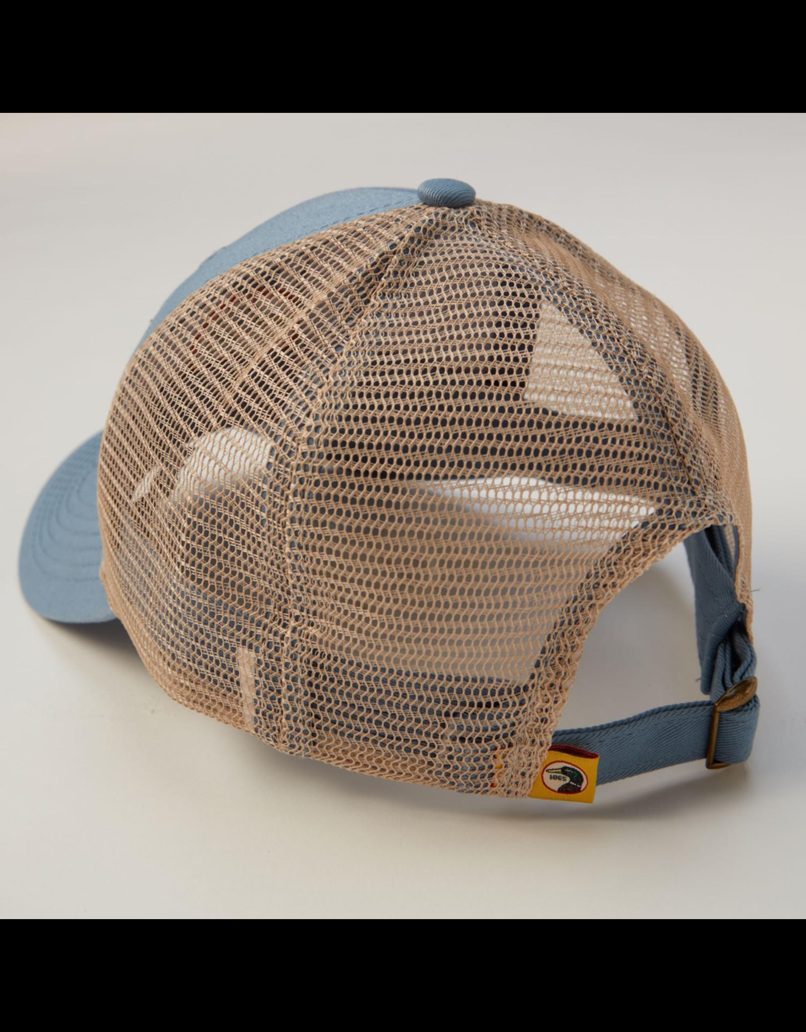 Hats DUCKHEAD D41007 CIRCLE PATCH TRUCKER HAT, OSFM, STEEL 435