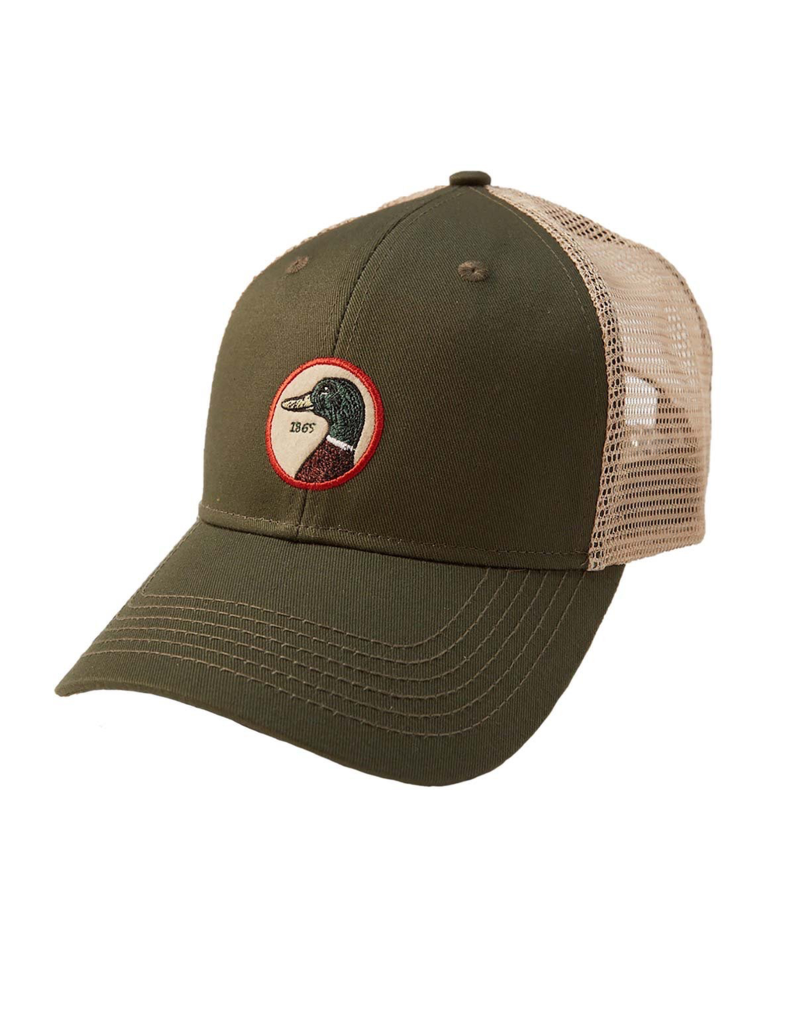 Hats DUCKHEAD D41007 CIRCLE PATCH TRUCKER HAT, OSFM, PINE 391